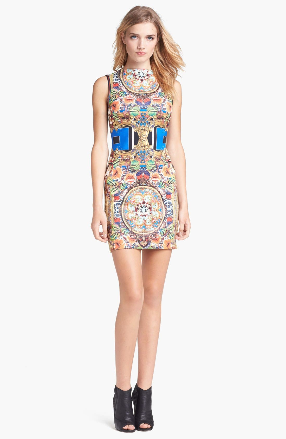 Alternate Image 1 Selected - Clover Canyon 'Russian Room' Stretch Body-Con Dress