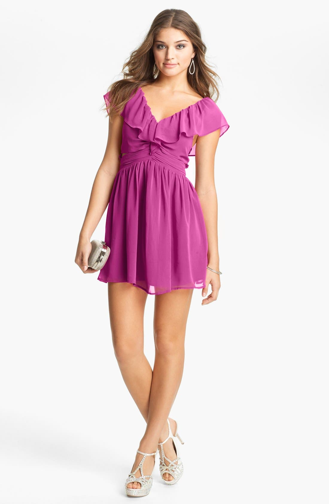 Main Image - Keepsake the Label 'Lost Without You' Ruffled Mini Dress