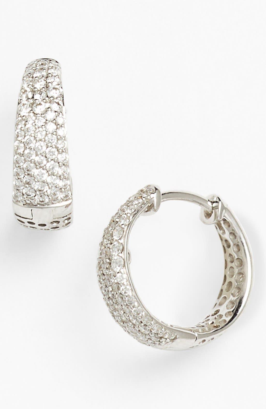 Alternate Image 1 Selected - Roberto Coin 'Scalare' Diamond Hoop Earrings
