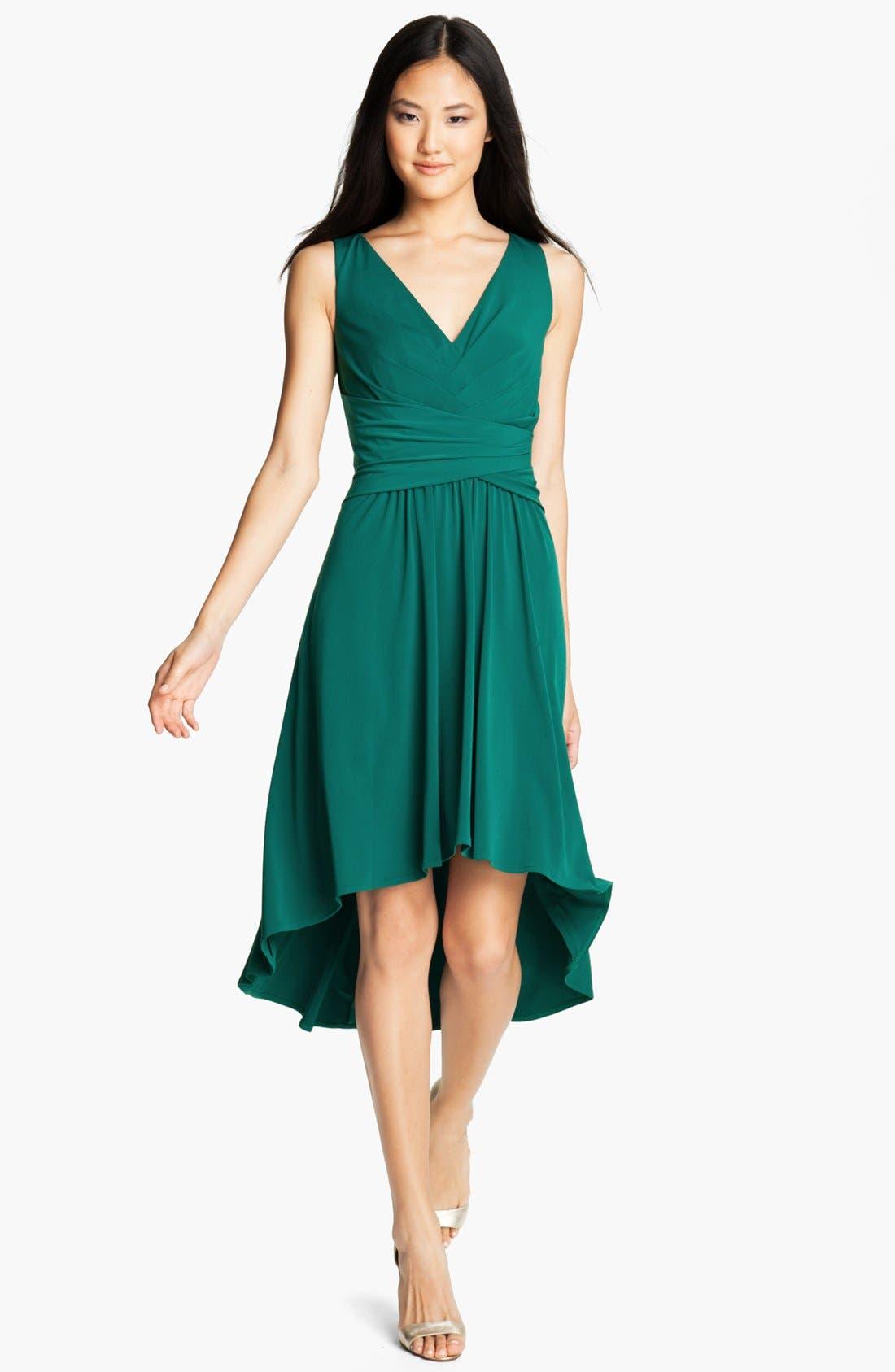Main Image - Ivy & Blu Pleated Front V-Neck Dress