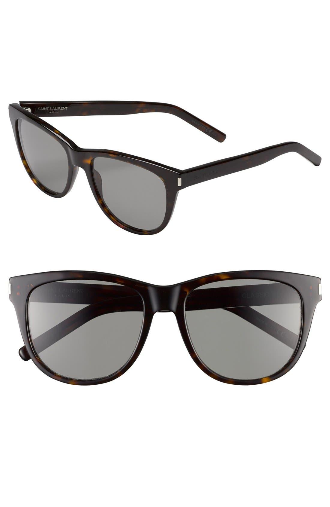 Main Image - Saint Laurent 55mm Retro Sunglasses