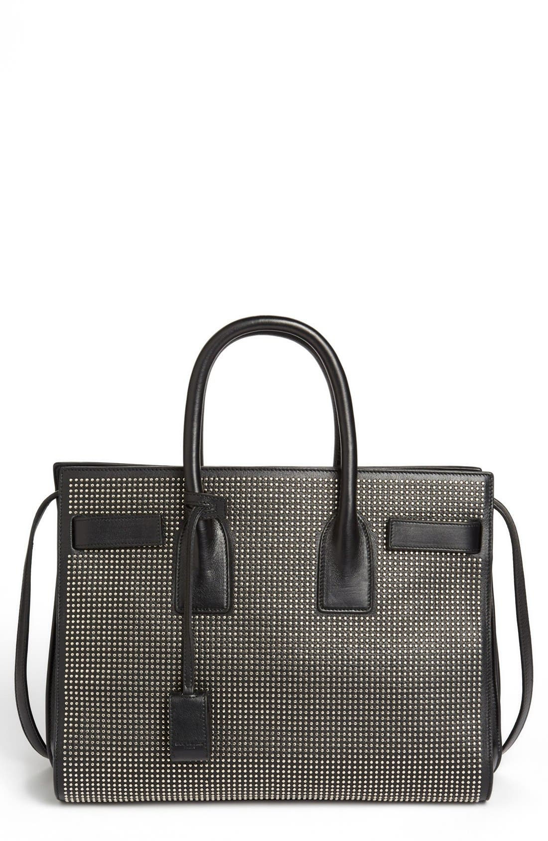 Alternate Image 1 Selected - Saint Laurent 'Small Sac de Jour Studs' Leather Tote