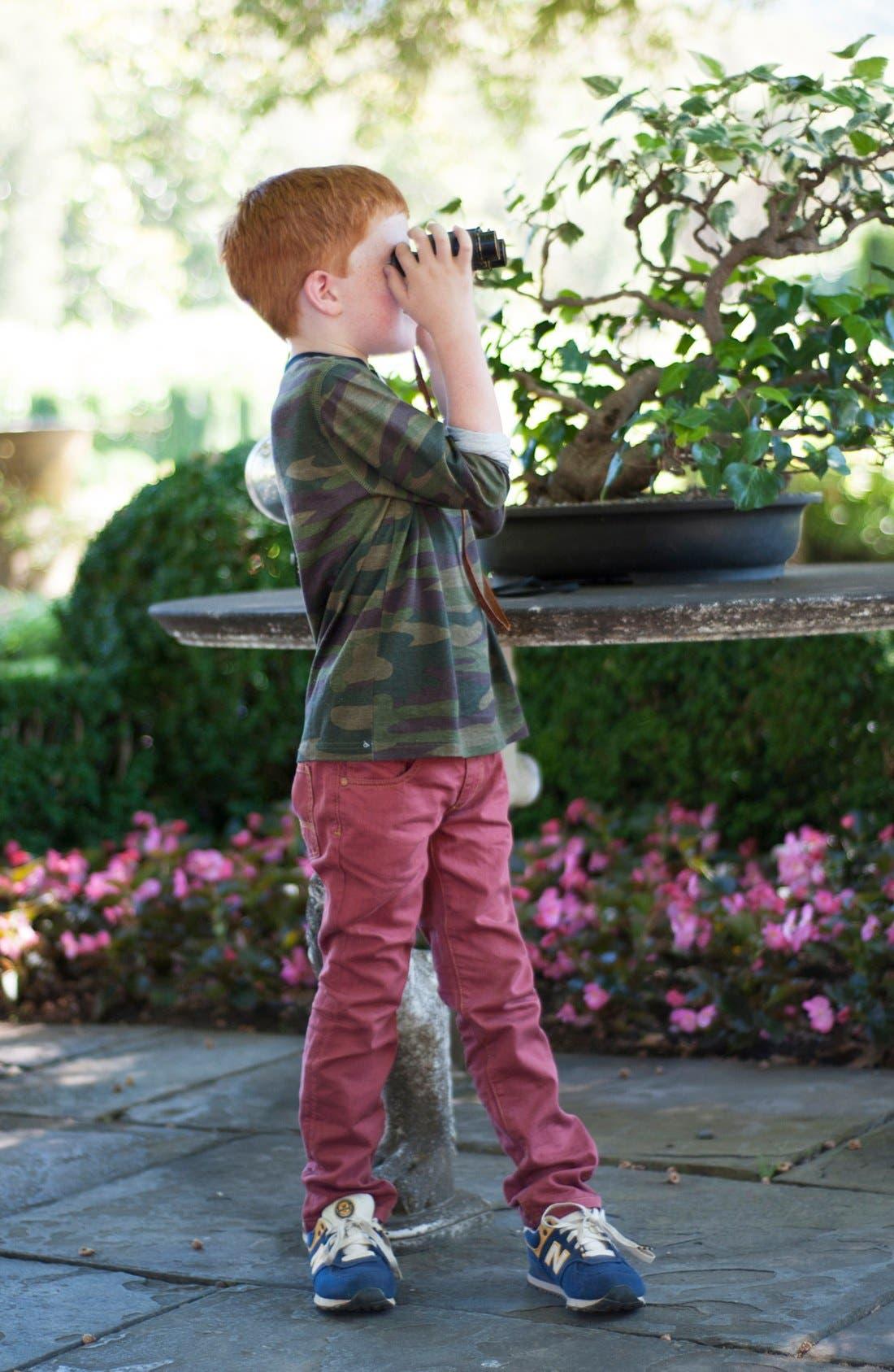 Alternate Image 2  - Peek Camo Henley Shirt (Little Boys & Big Boys)
