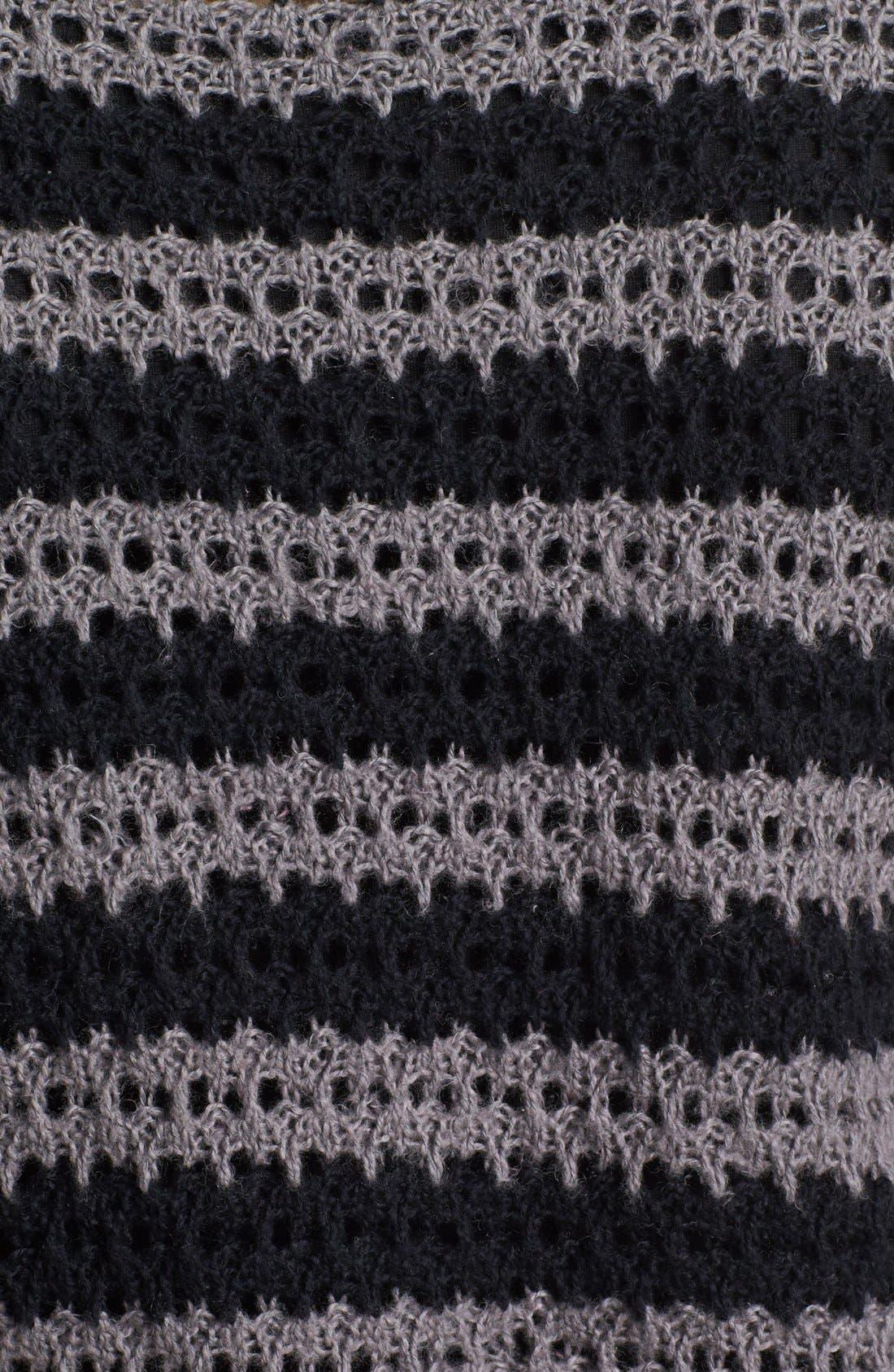 Alternate Image 3  - Caslon® Open Knit Stripe Sweater