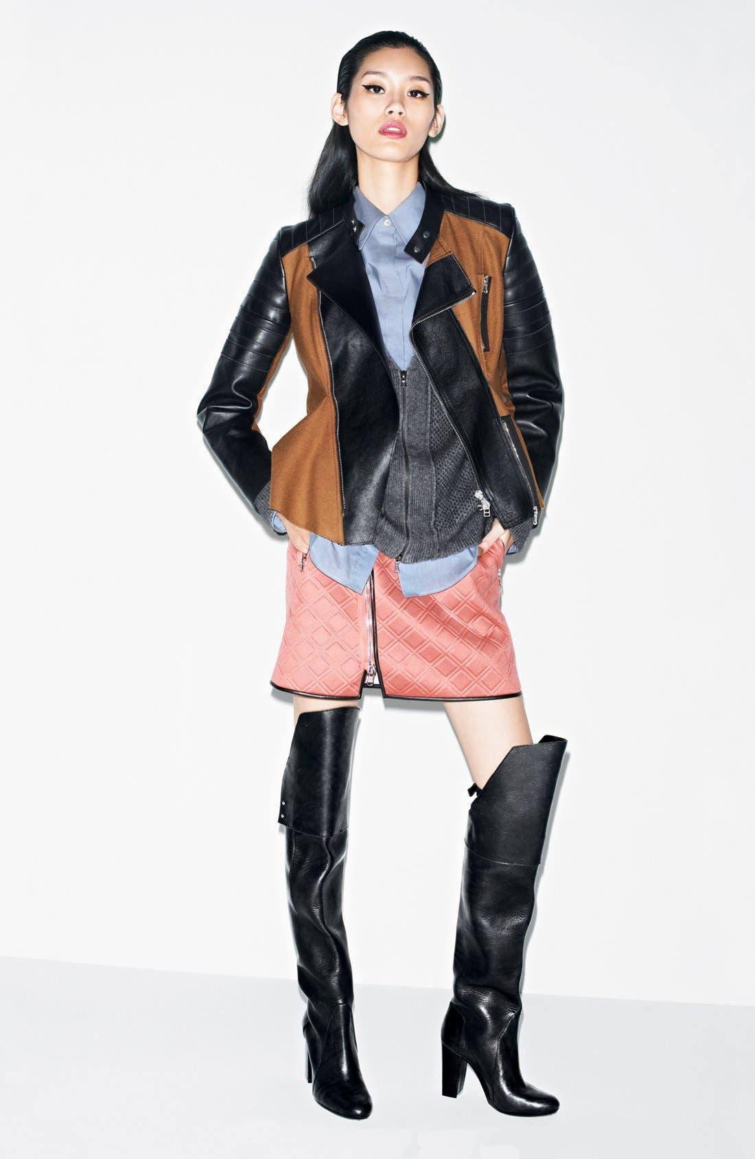 Alternate Image 5  - 3.1 Phillip Lim Neoprene Biker Skirt