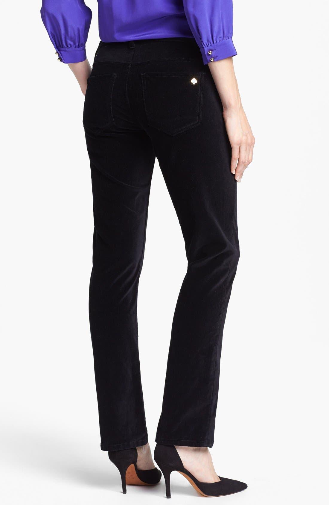 Alternate Image 2  - kate spade new york straight leg velvet pants