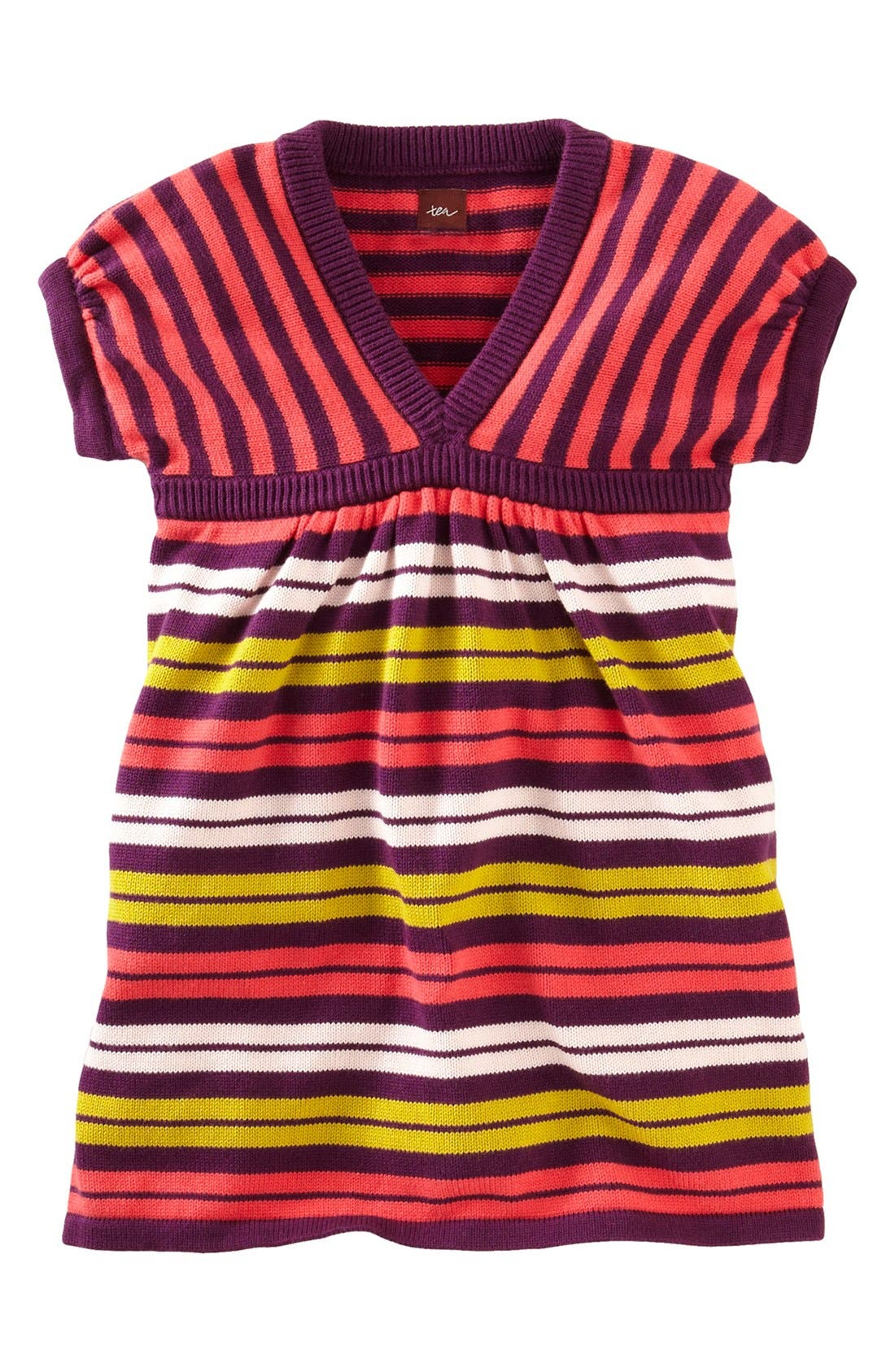 Main Image - Tea Collection 'Art Village' Sweater Dress (Little Girls & Big Girls)