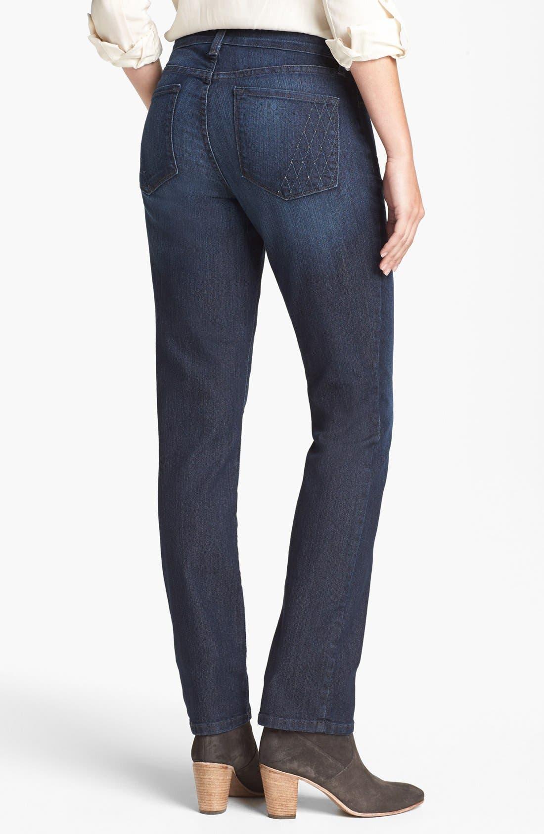 Alternate Image 2  - NYDJ 'Sheri' Embellished Pocket Stretch Skinny Jeans