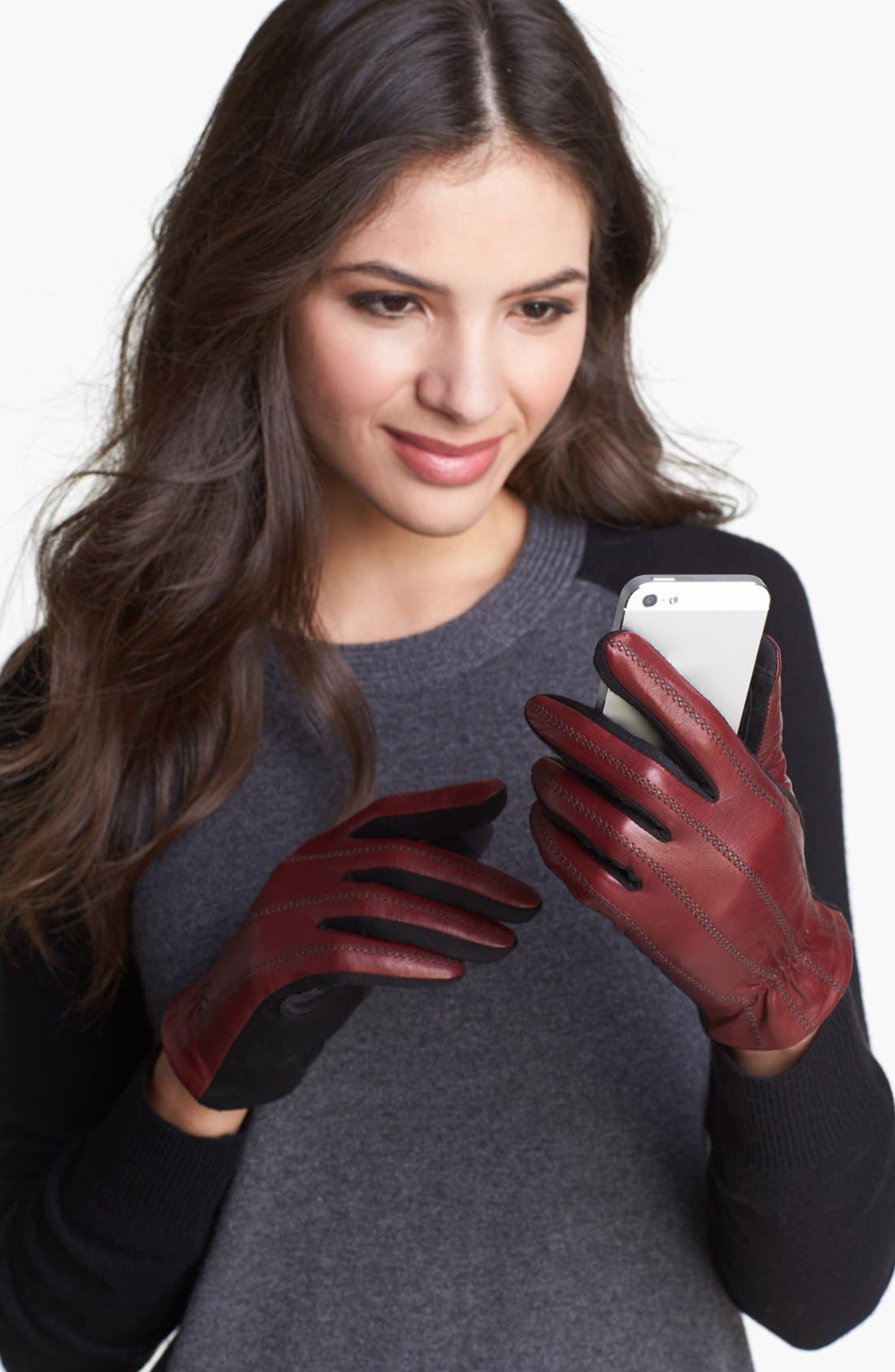 Main Image - Fownes Brothers Tech Fingertip Leather Gloves