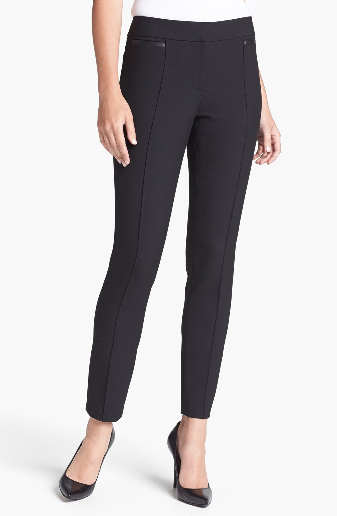 Alternate Image 1 Selected - Classiques Entier® 'City Weave' Skinny Ankle Pants