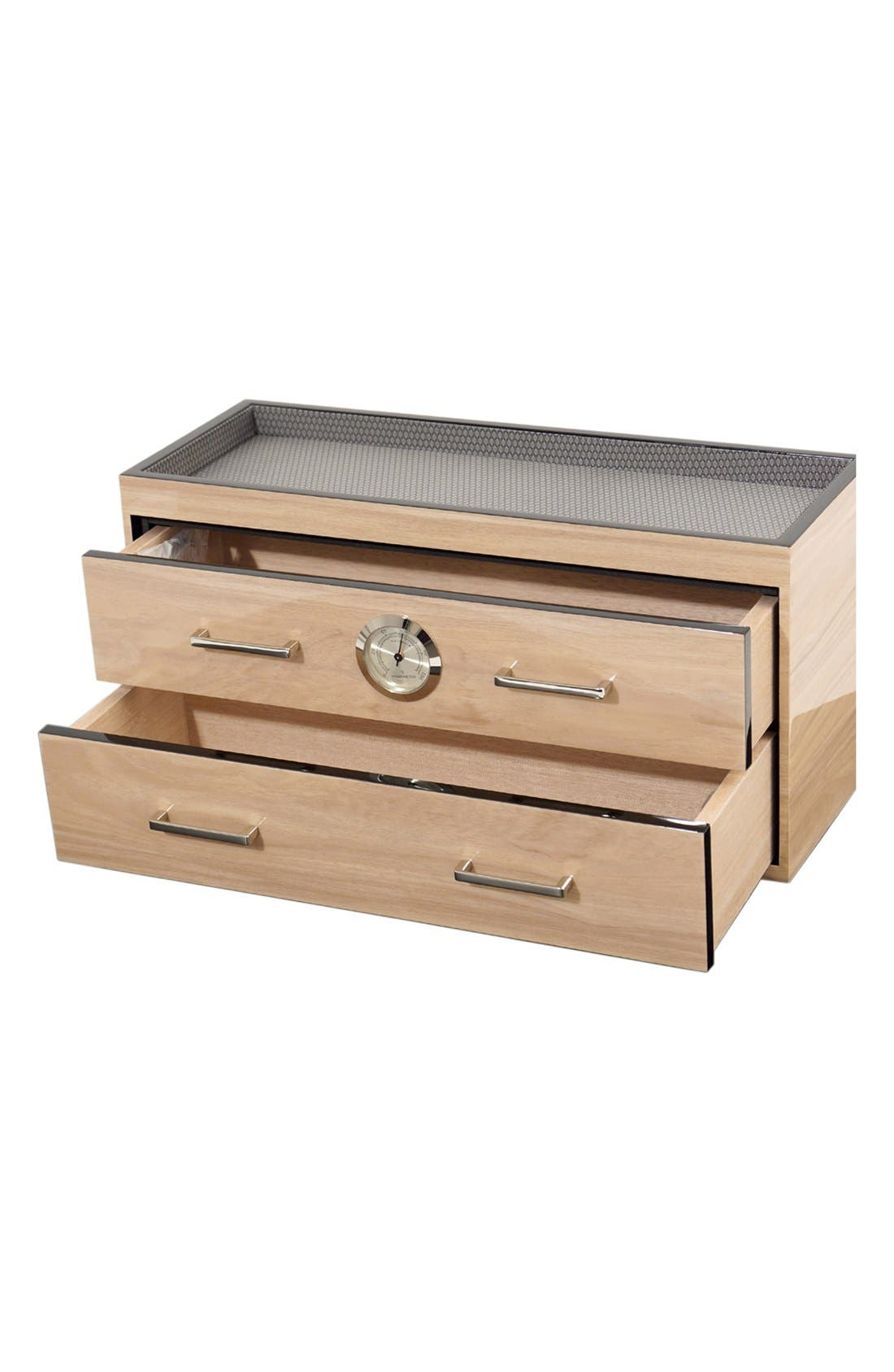 Meridian Valet Humidor,                             Alternate thumbnail 3, color,                             Blonde