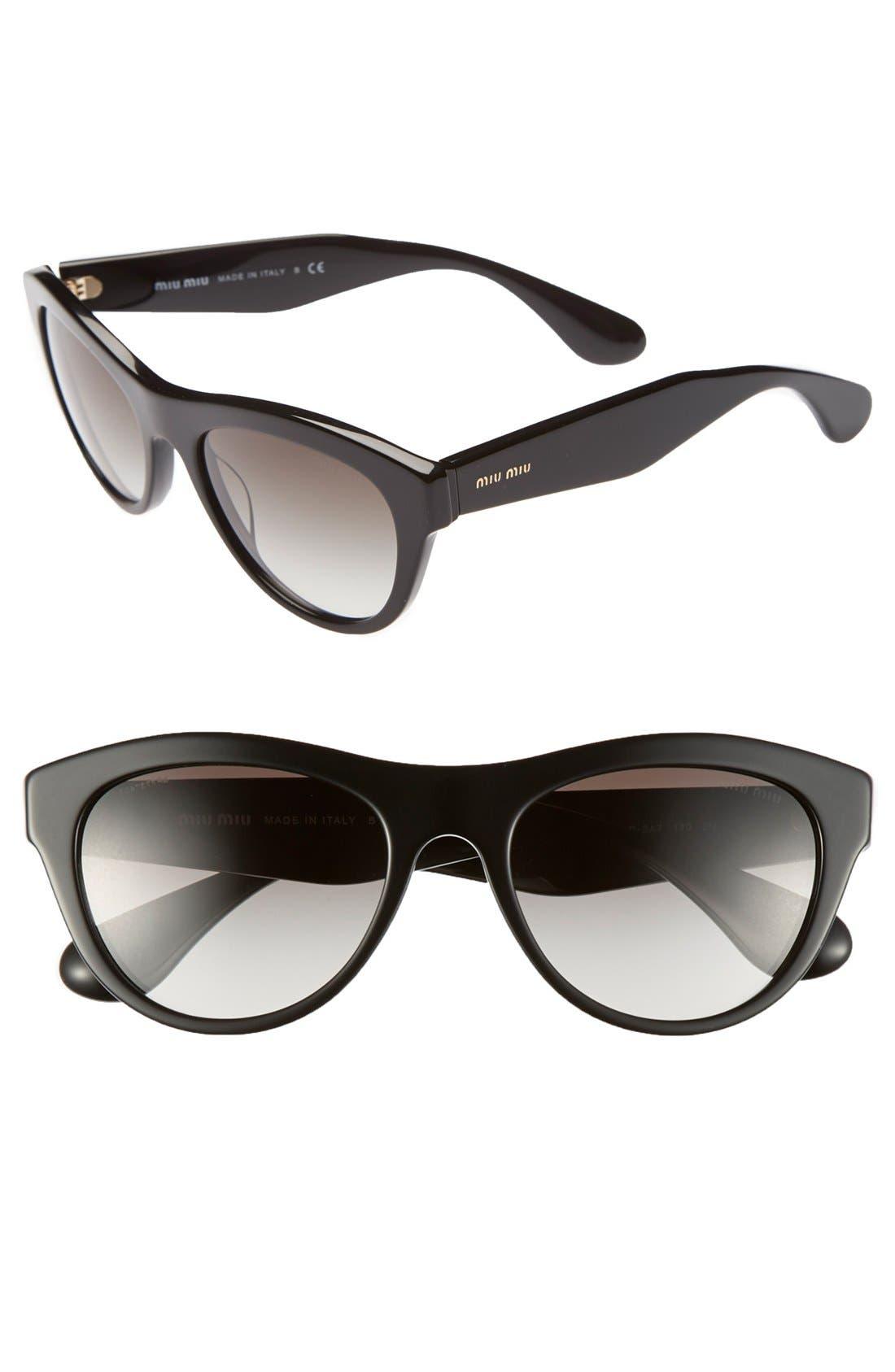 Alternate Image 1 Selected - Miu Miu 54mm Cat Eye Sunglasses