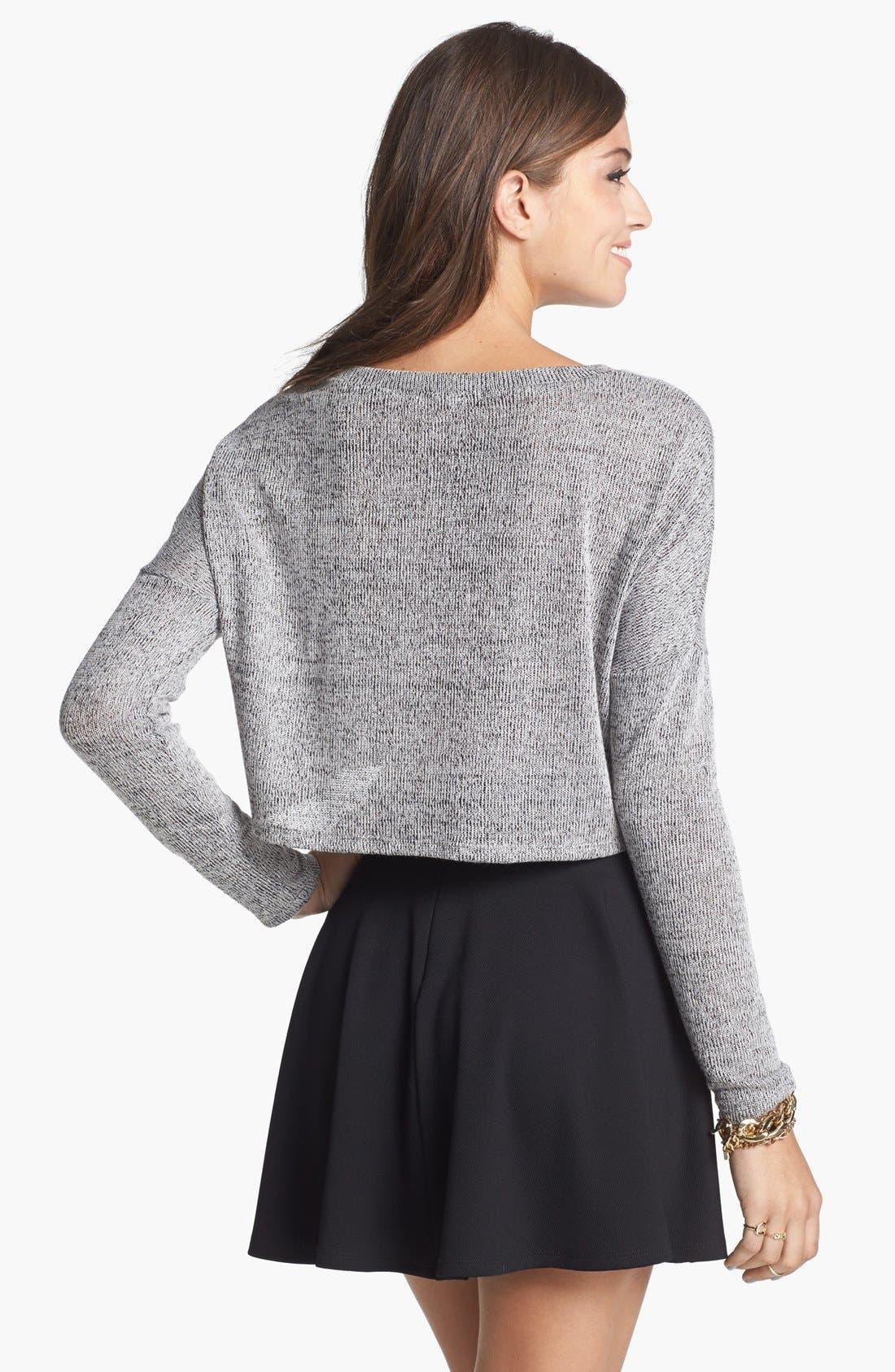 Alternate Image 2  - Soprano 'Love' Crop Sweater (Juniors)