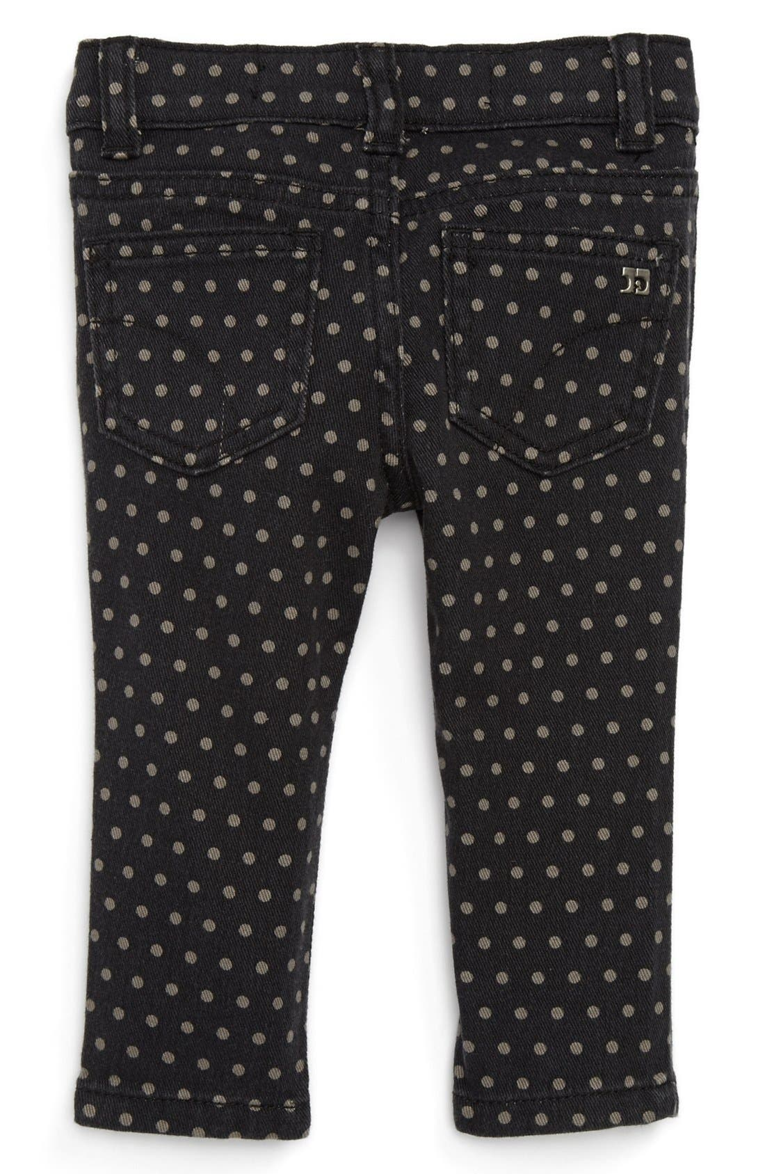 Alternate Image 1 Selected - Joe's Polka Dot Denim Leggings (Baby Girls)