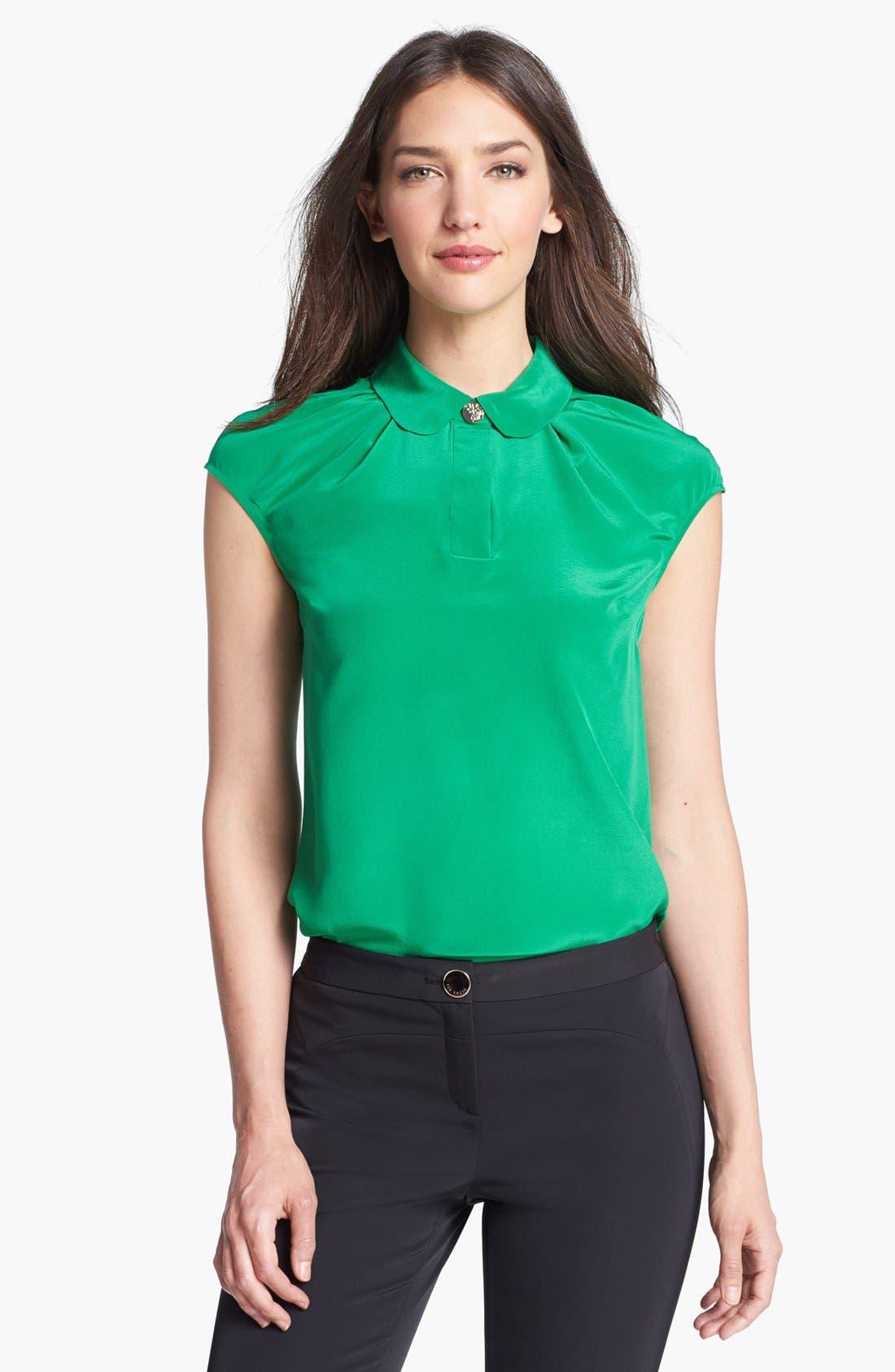 Alternate Image 1 Selected - Ted Baker London Peter Pan Collar Silk Top