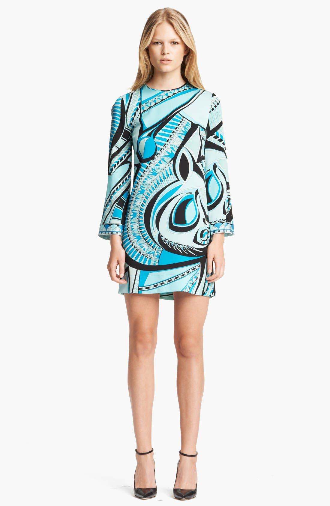 Main Image - Emilio Pucci Print Stretch Silk Georgette Dress