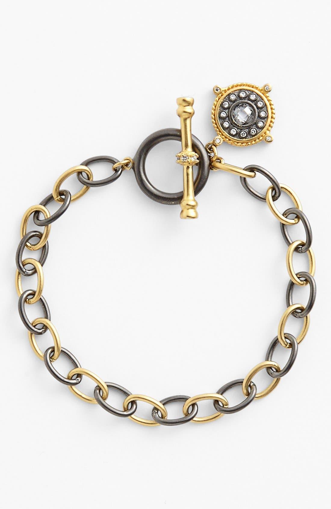 Main Image - FREIDA ROTHMAN 'Hamptons' Nautical Compass Charm Toggle Bracelet
