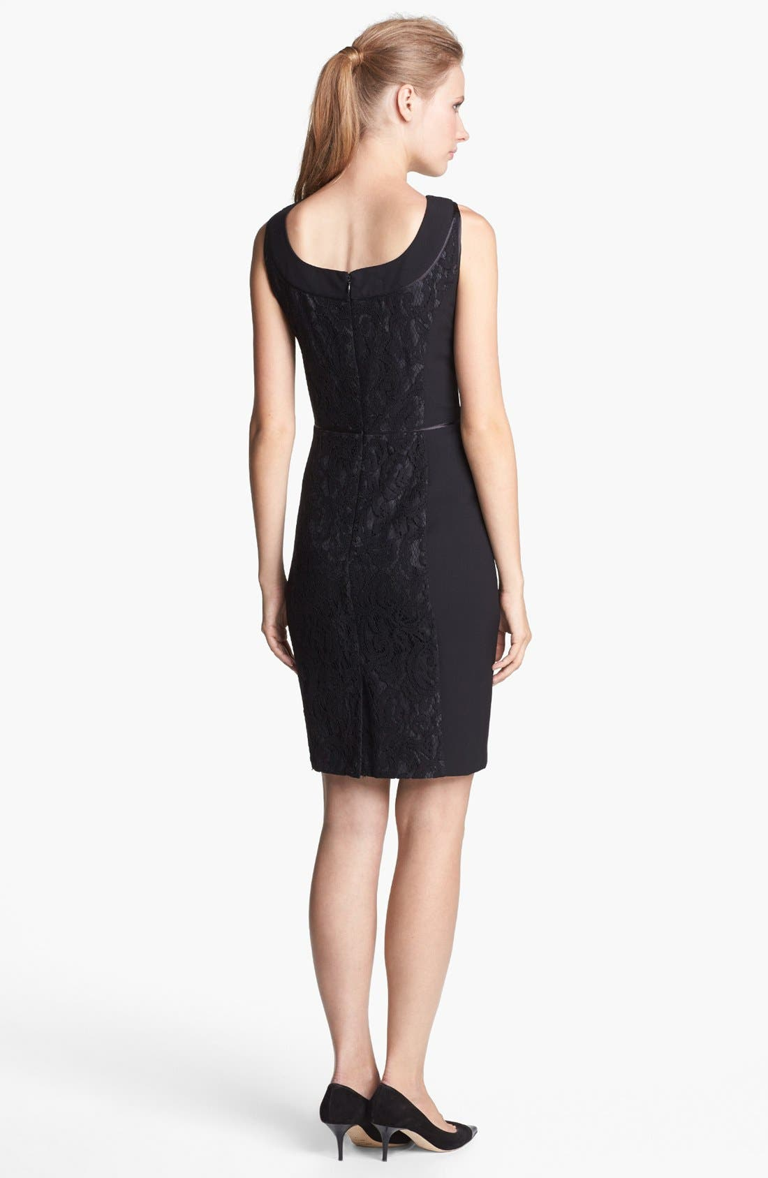 Alternate Image 2  - Ellen Tracy Lace Sheath Dress