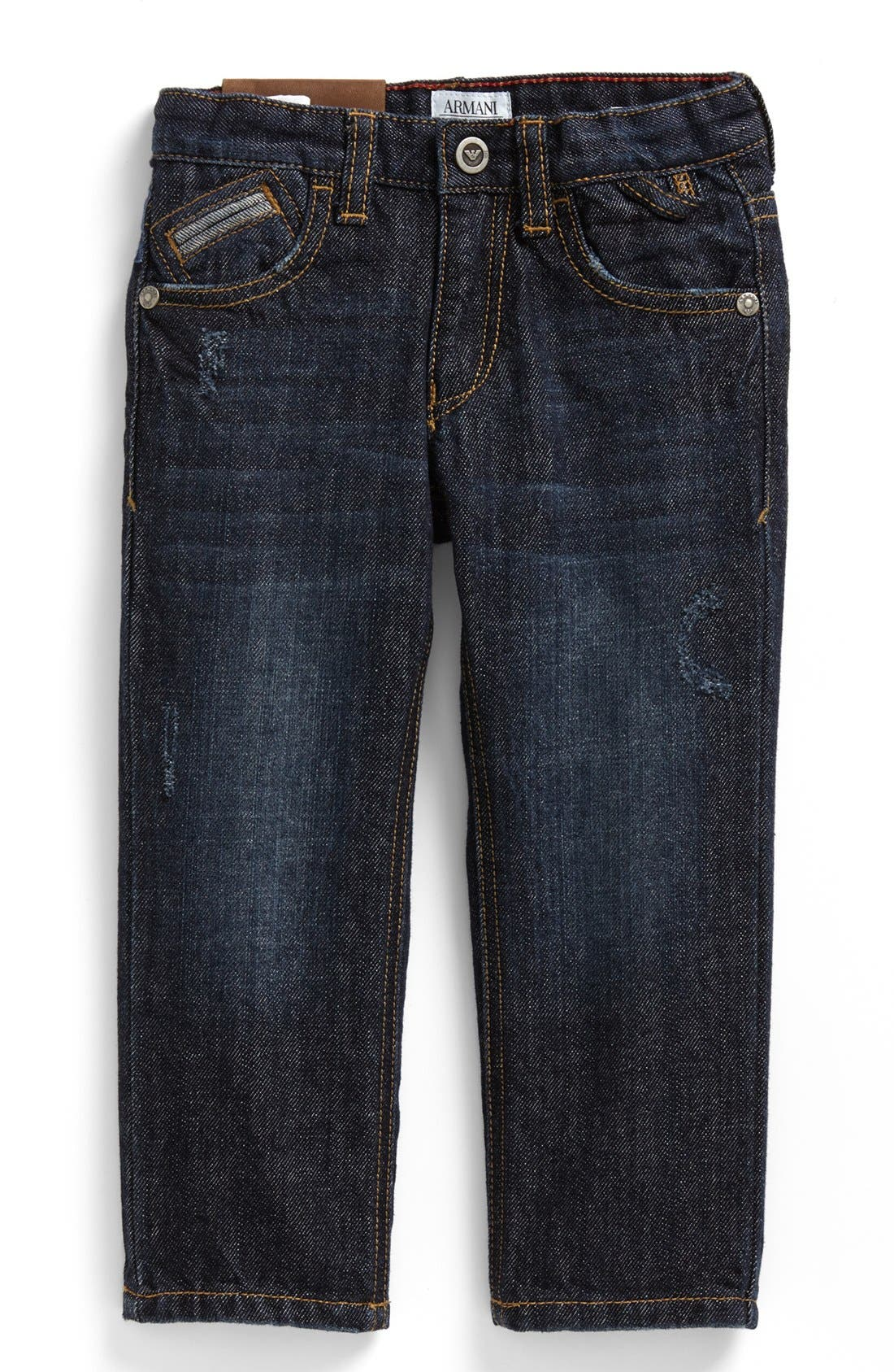Alternate Image 2  - Armani Junior Straight Leg Jeans (Toddler Boys, Little Boys & Big Boys)