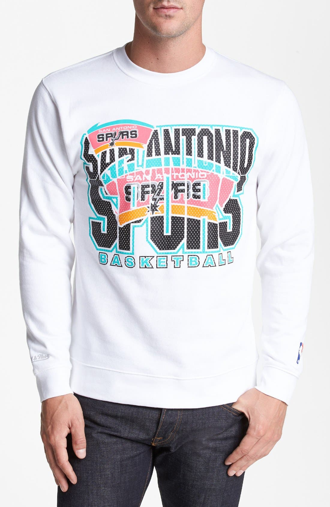 Main Image - Mitchell & Ness 'San Antonio Spurs' Sweatshirt