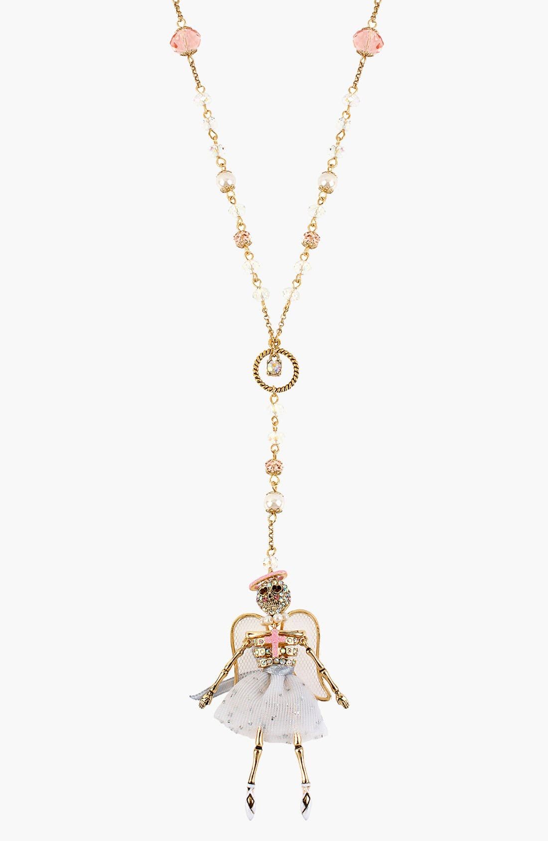 Alternate Image 1 Selected - Betsey Johnson 'Angel & Devil' Pendant Necklace