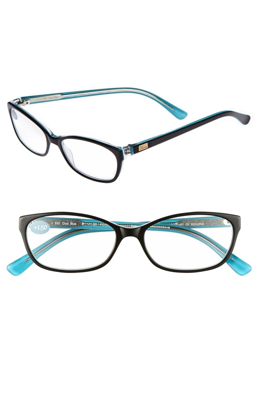 Main Image - I Line Eyewear 'Cool Blue' 53mm Reading Glasses