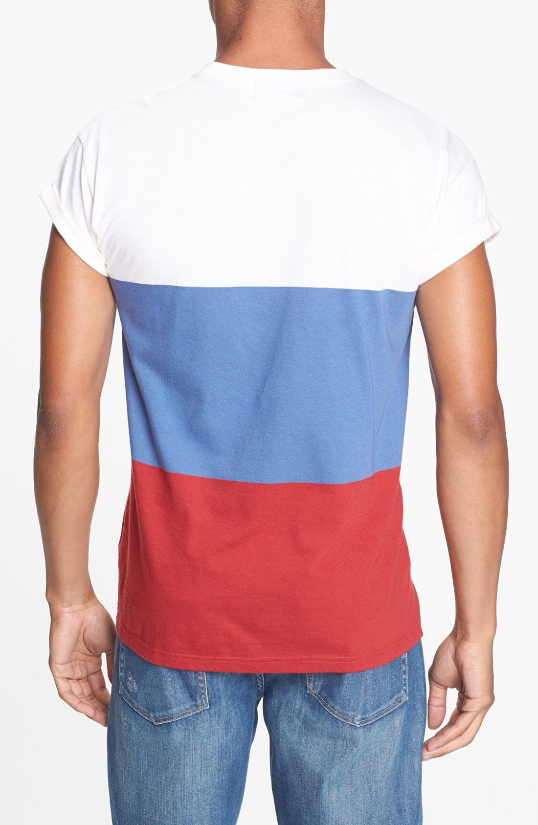 Alternate Image 2  - Topman Block Stripe T-Shirt