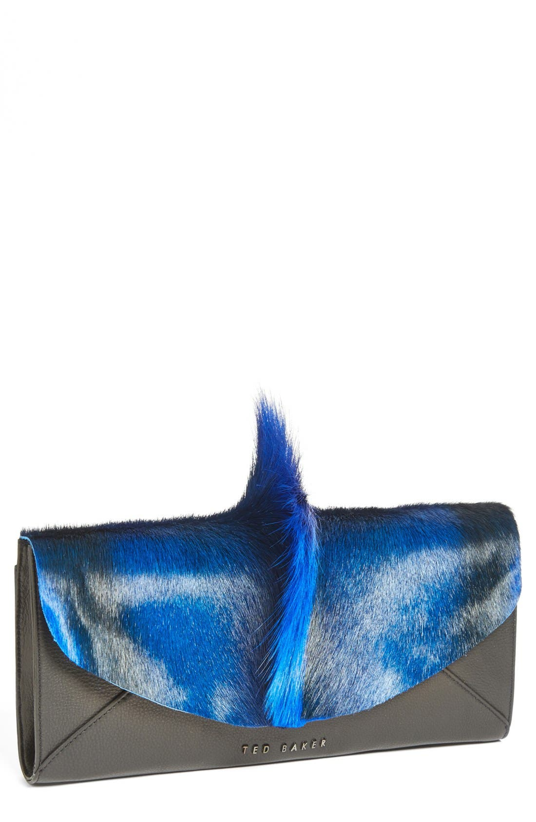 Main Image - Ted Baker London Genuine Springbok Fur & Leather Clutch