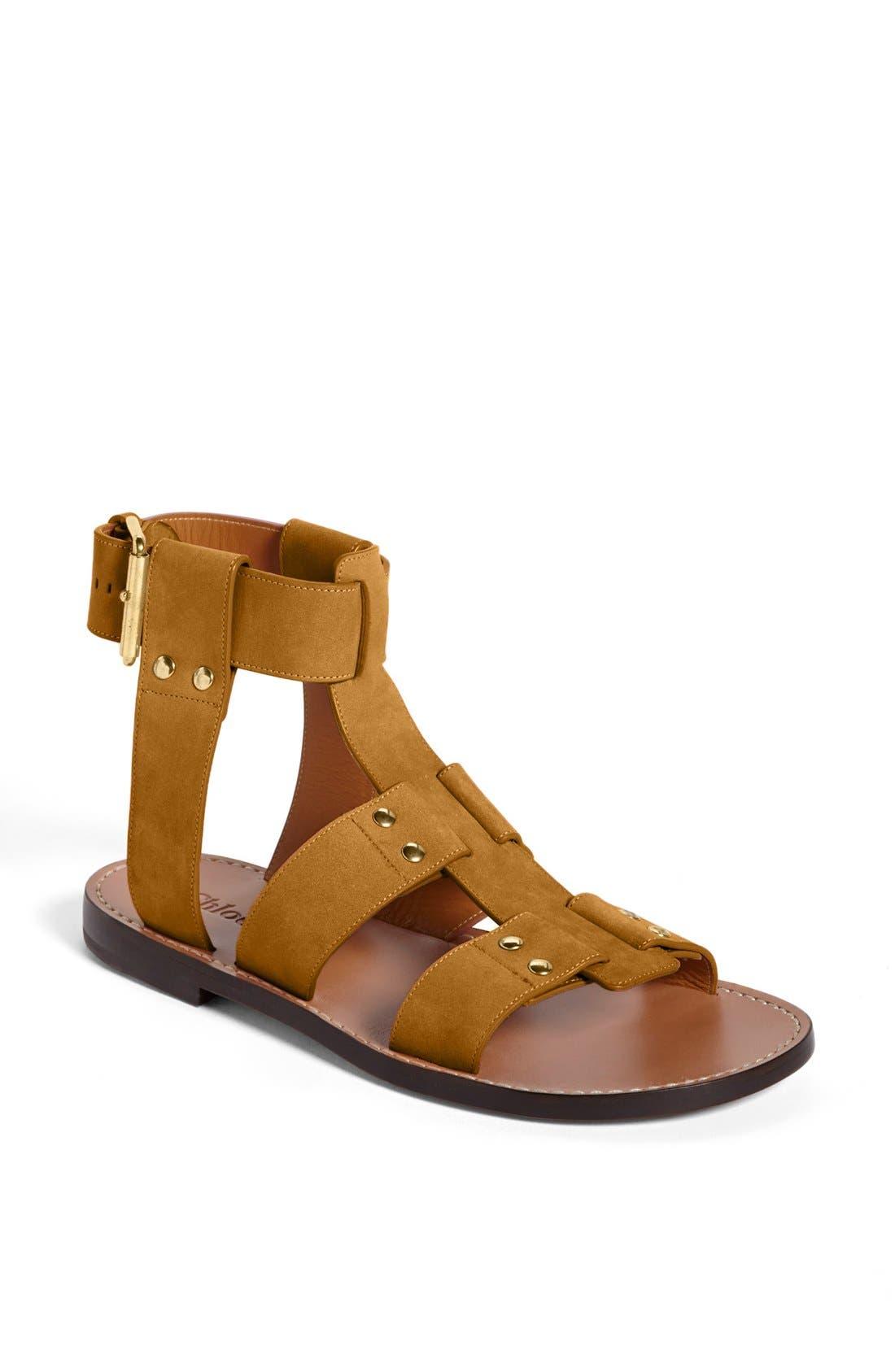 Alternate Image 1 Selected - Chloé 'Alaska' Flat Gladiator Sandal