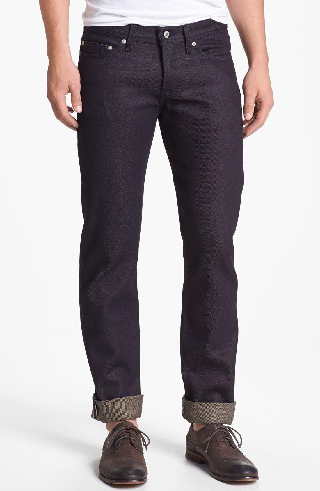 Alternate Image 2  - Naked & Famous Denim 'Weird Guy' Slim Fit Selvedge Jeans (Elephant 3)