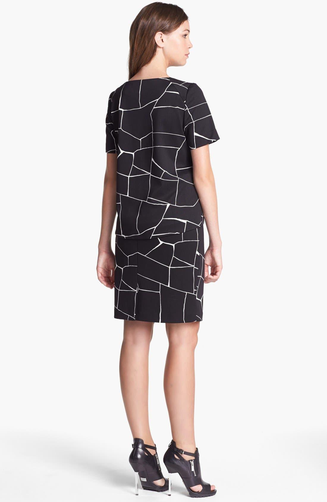 Alternate Image 3  - Vince Camuto Faux Patent Leather Trim Print Pencil Skirt