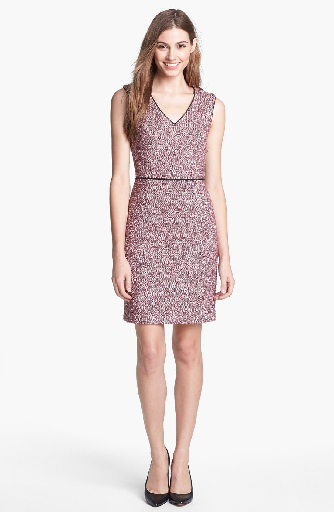 Alternate Image 1 Selected - 4.collective V-Neck Sheath Dress