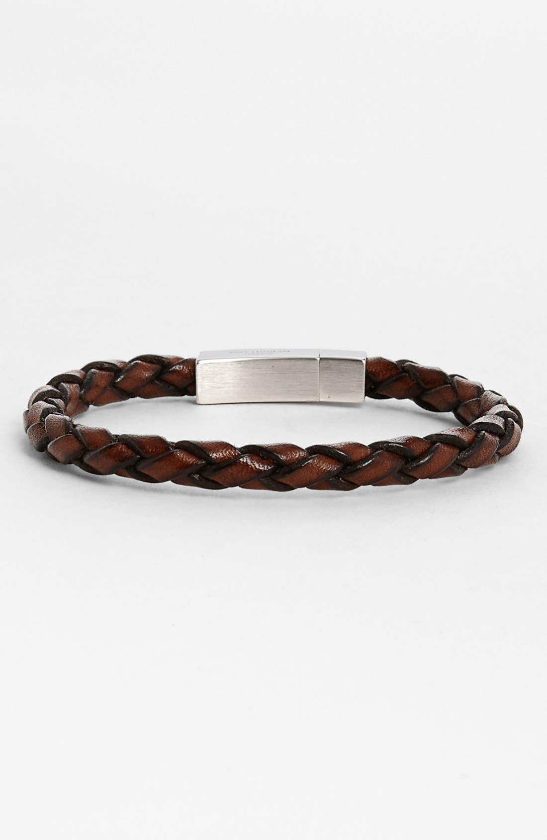 Scoubidou Bracelet,                             Main thumbnail 1, color,                             Brown