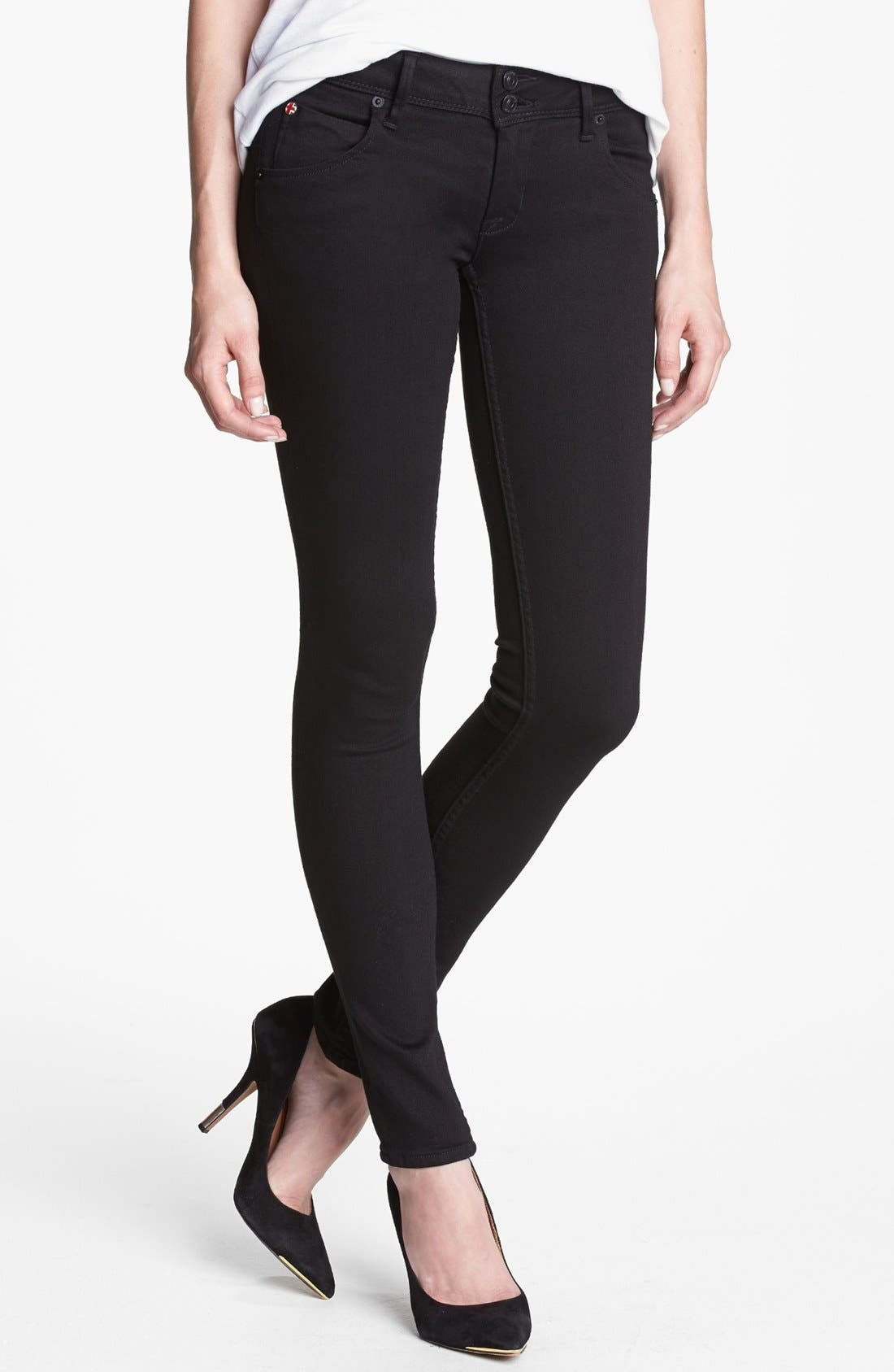 Alternate Image 1 Selected - Hudson Jeans 'Collin' Skinny Jeans (Black)