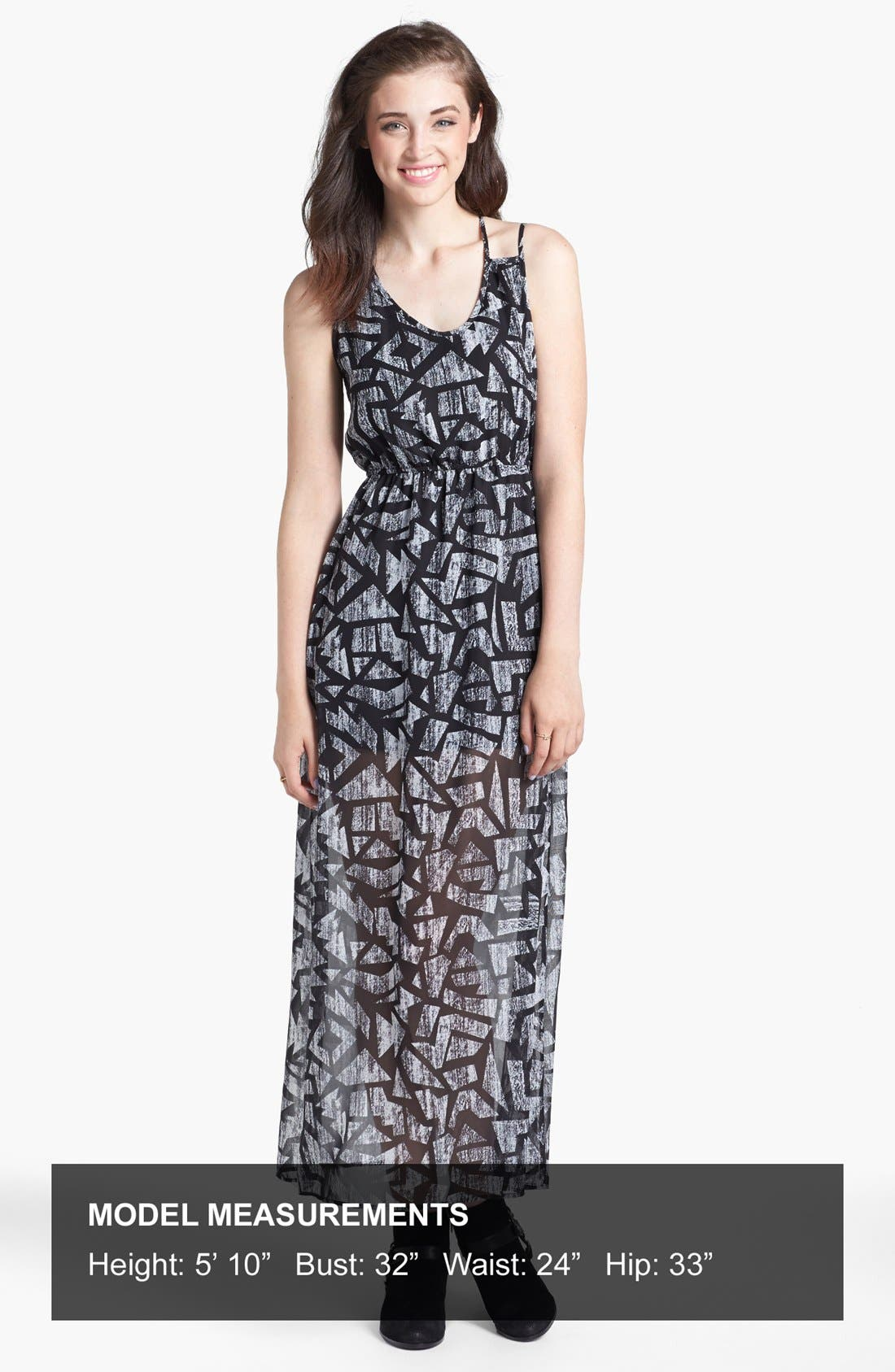 Alternate Image 4  - dee elle Print Strappy Maxi Dress (Juniors)