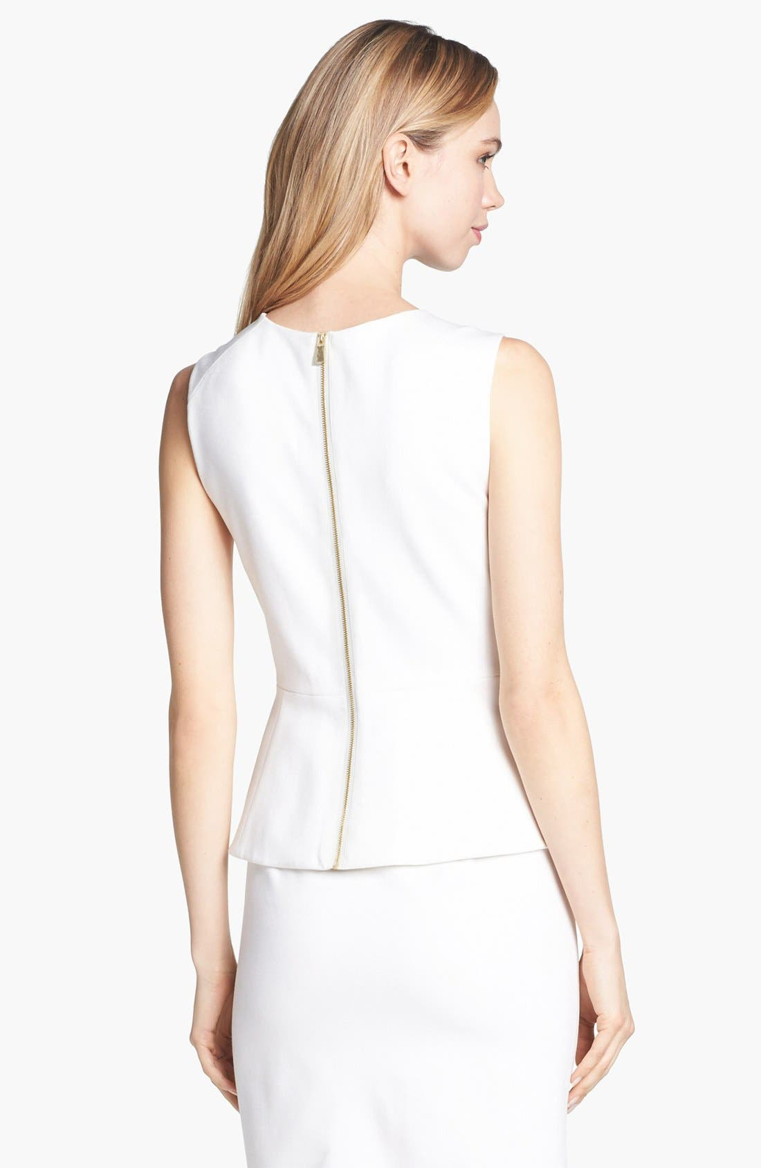Alternate Image 2  - Vince Camuto Embellished Neck Peplum Top