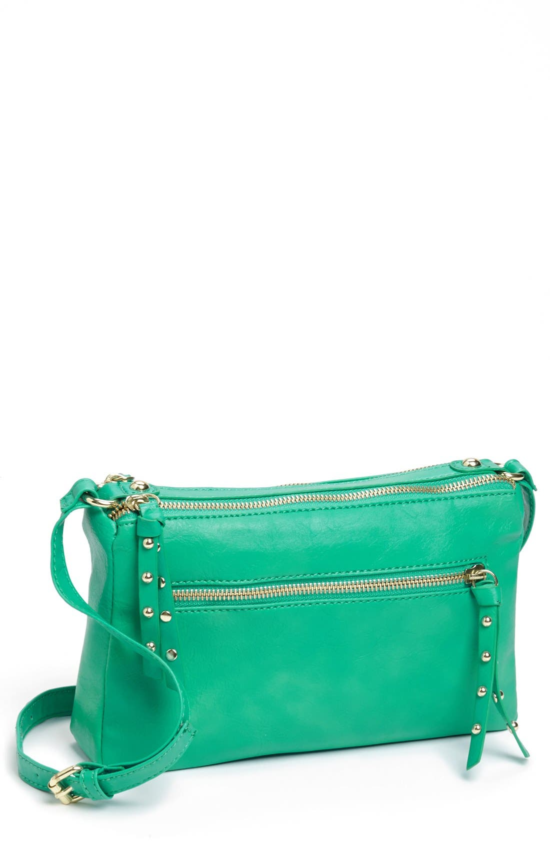Alternate Image 1 Selected - Collection B Faux Leather Crossbody Bag (Juniors)