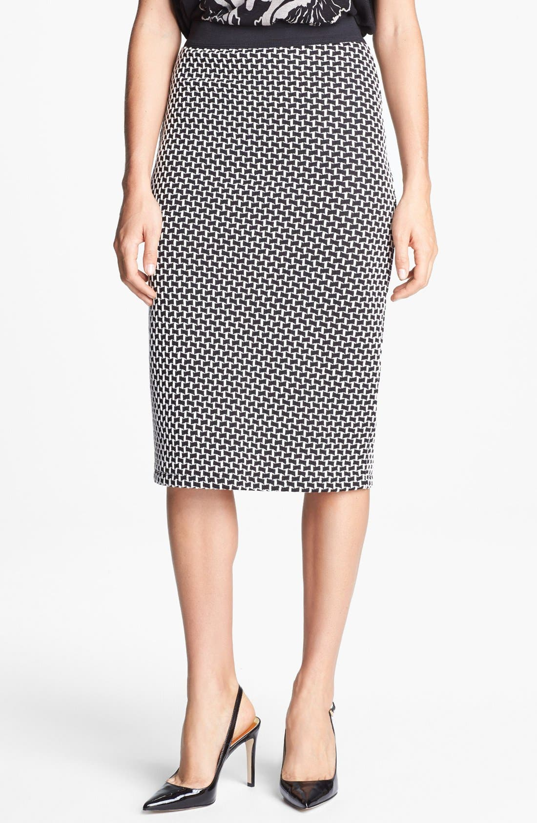 Main Image - Bobeau Jacquard Midi Tube Skirt