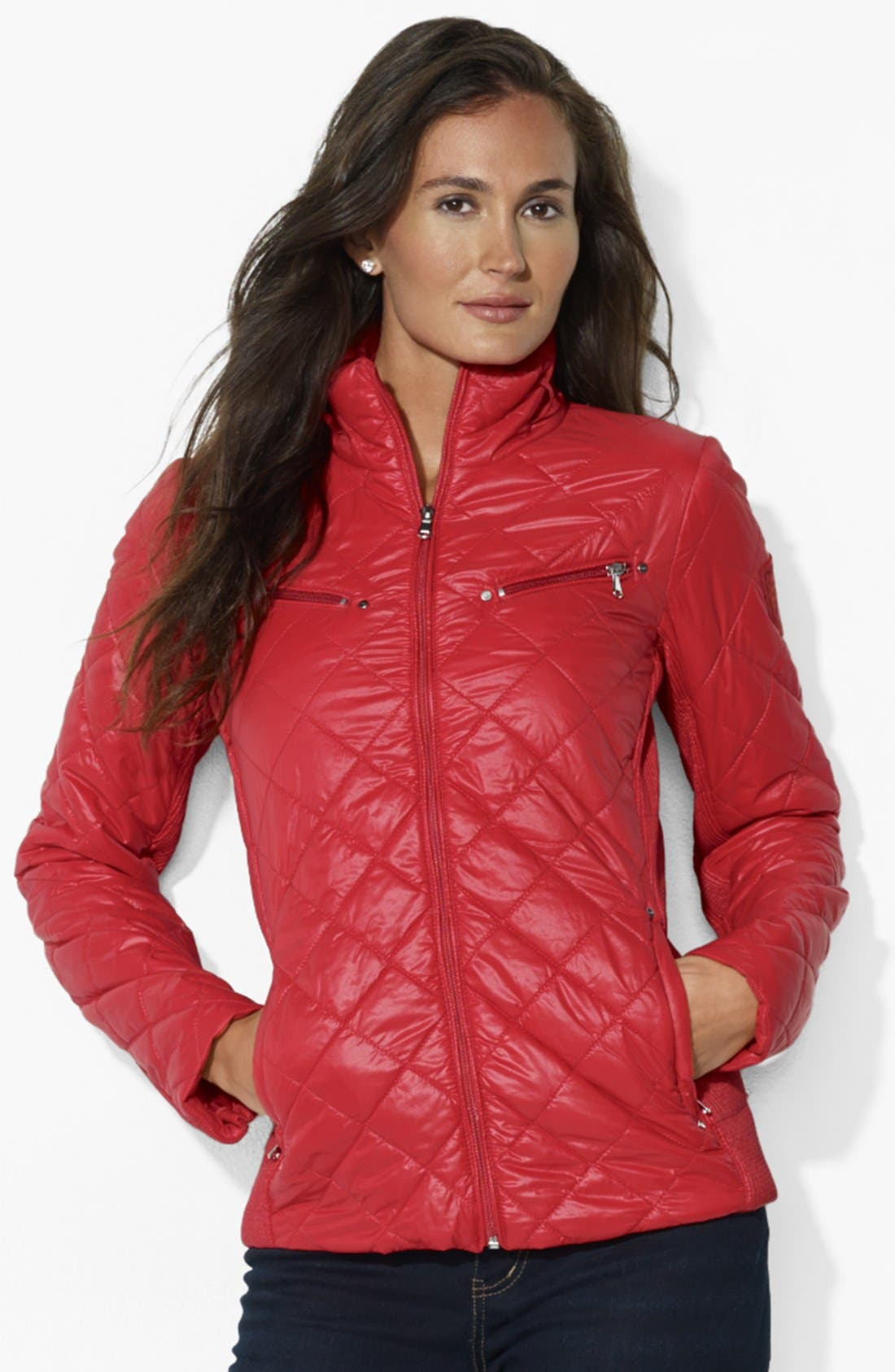 Alternate Image 1 Selected - Lauren Ralph Lauren Quilted Scuba Jacket