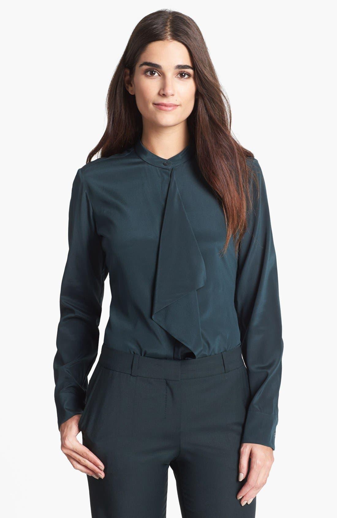 Alternate Image 1 Selected - BOSS HUGO BOSS 'Bivinia' Stretch Silk Blouse