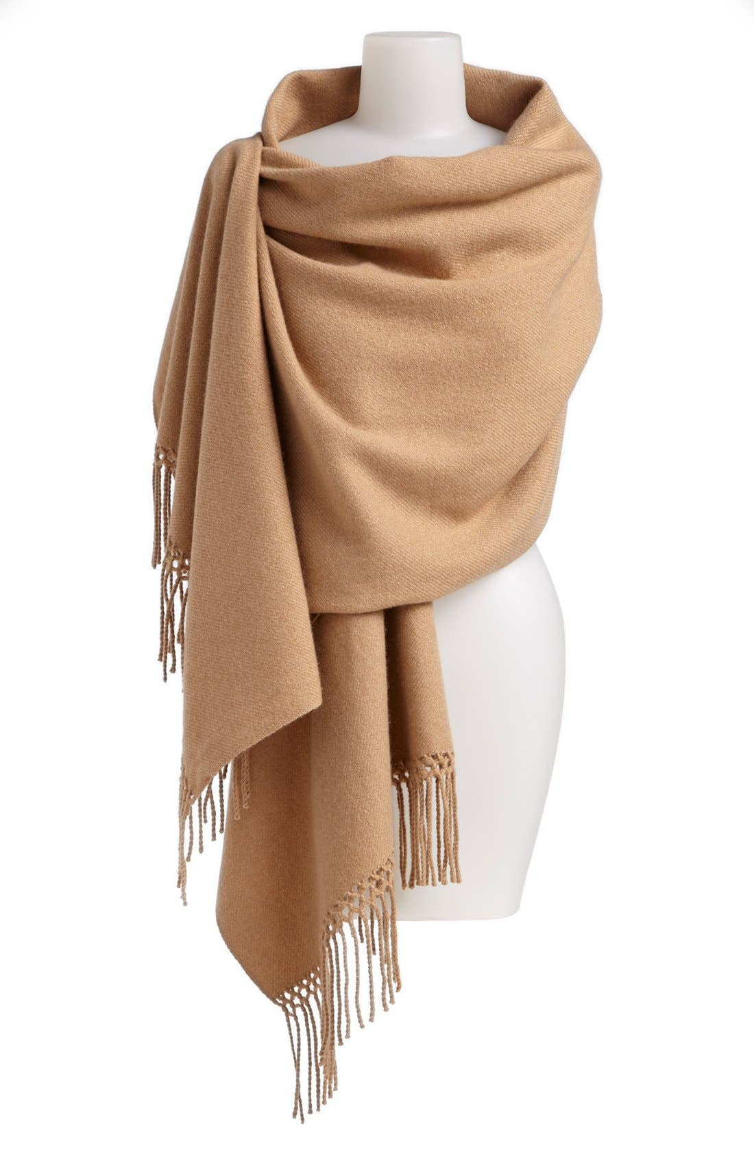 Alternate Image 1 Selected - Nordstrom Woven Cashmere Wrap