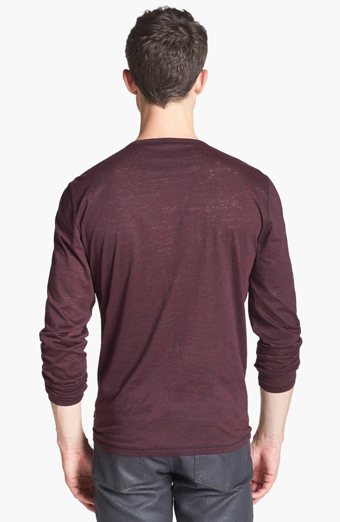 Alternate Image 2  - John Varvatos Star USA Burnout Crewneck T-Shirt