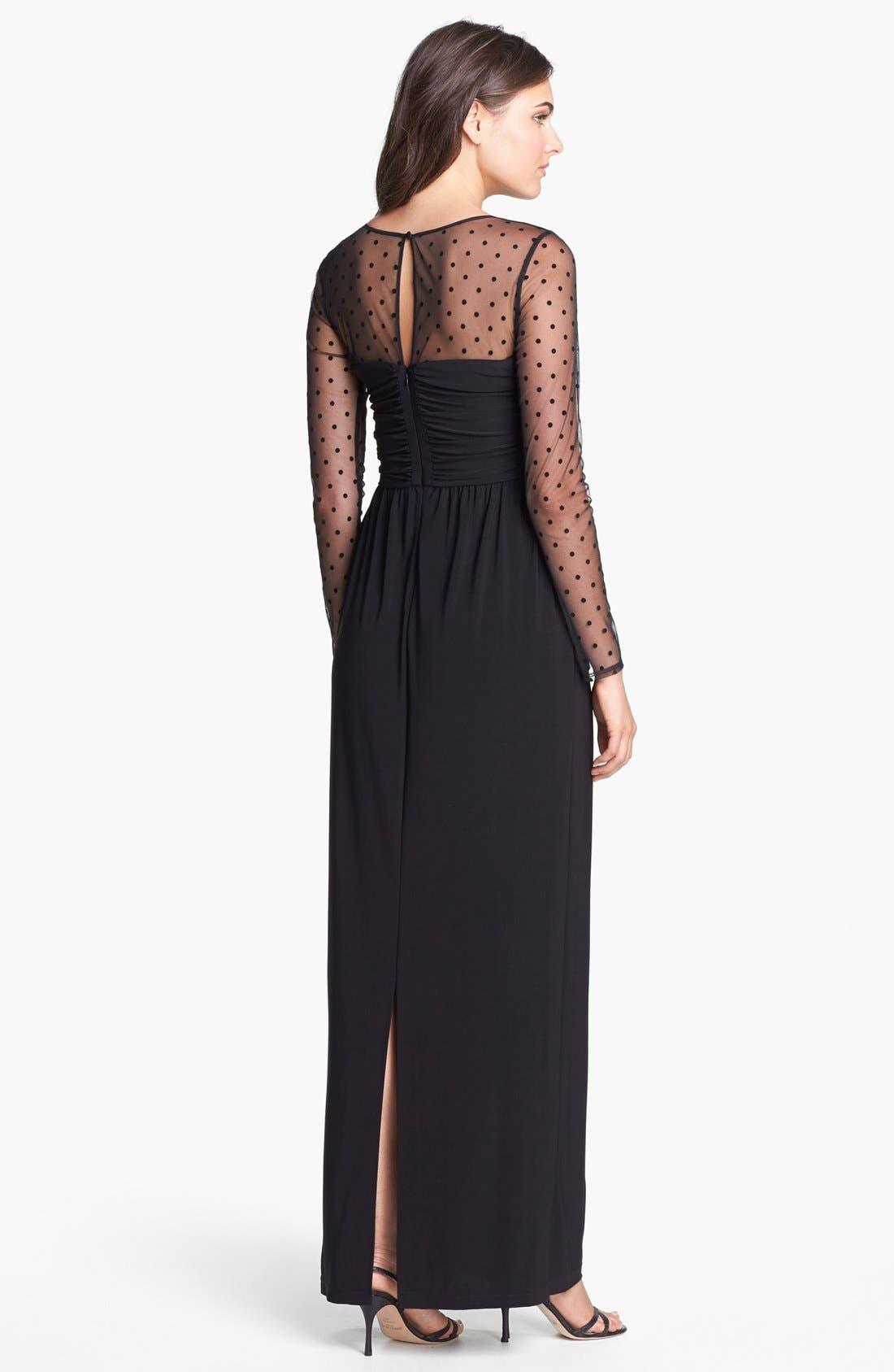 Alternate Image 2  - Eliza J Illusion Yoke Jersey Maxi Dress (Regular & Petite)