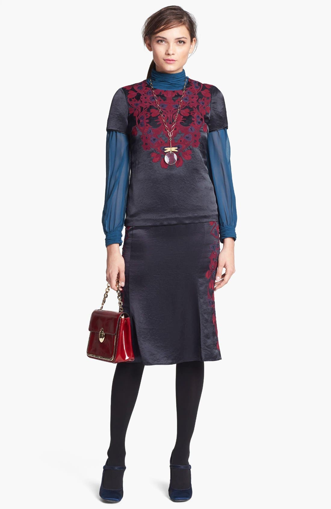 Alternate Image 4  - Tory Burch 'Uma' Embellished Midi Skirt