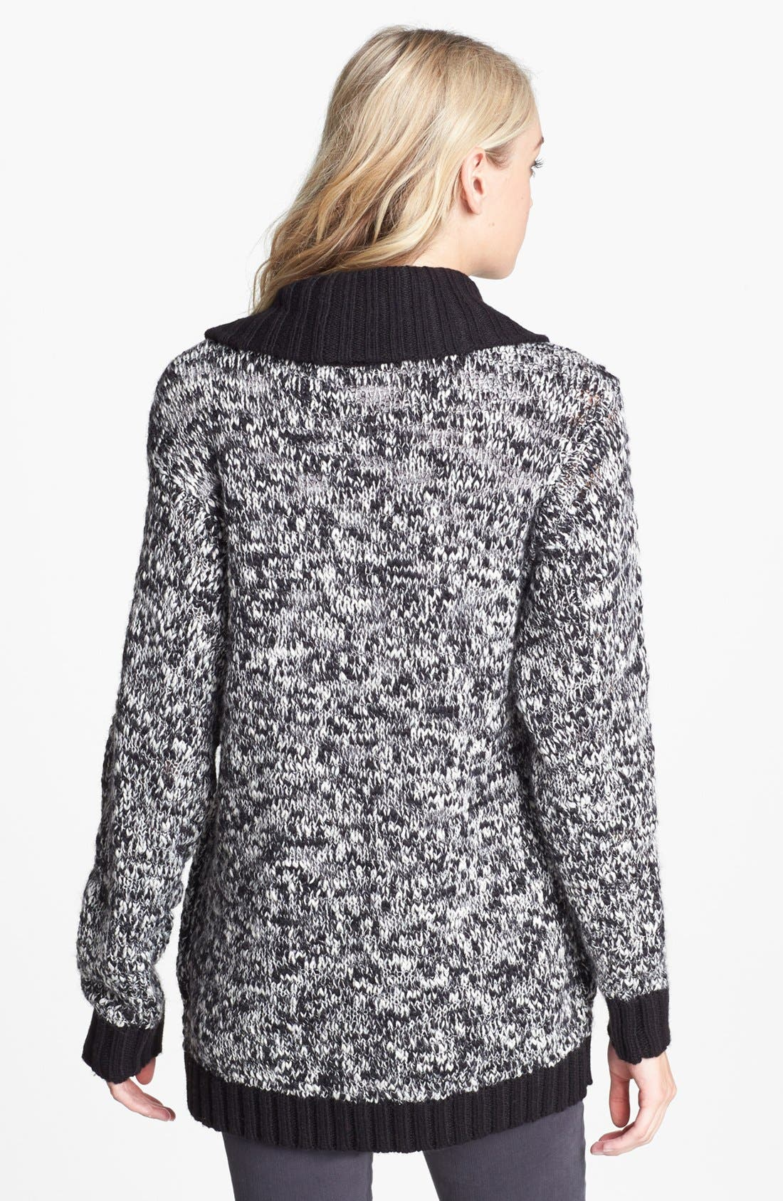 Alternate Image 2  - Hinge® Shawl Collar Marled Cardigan