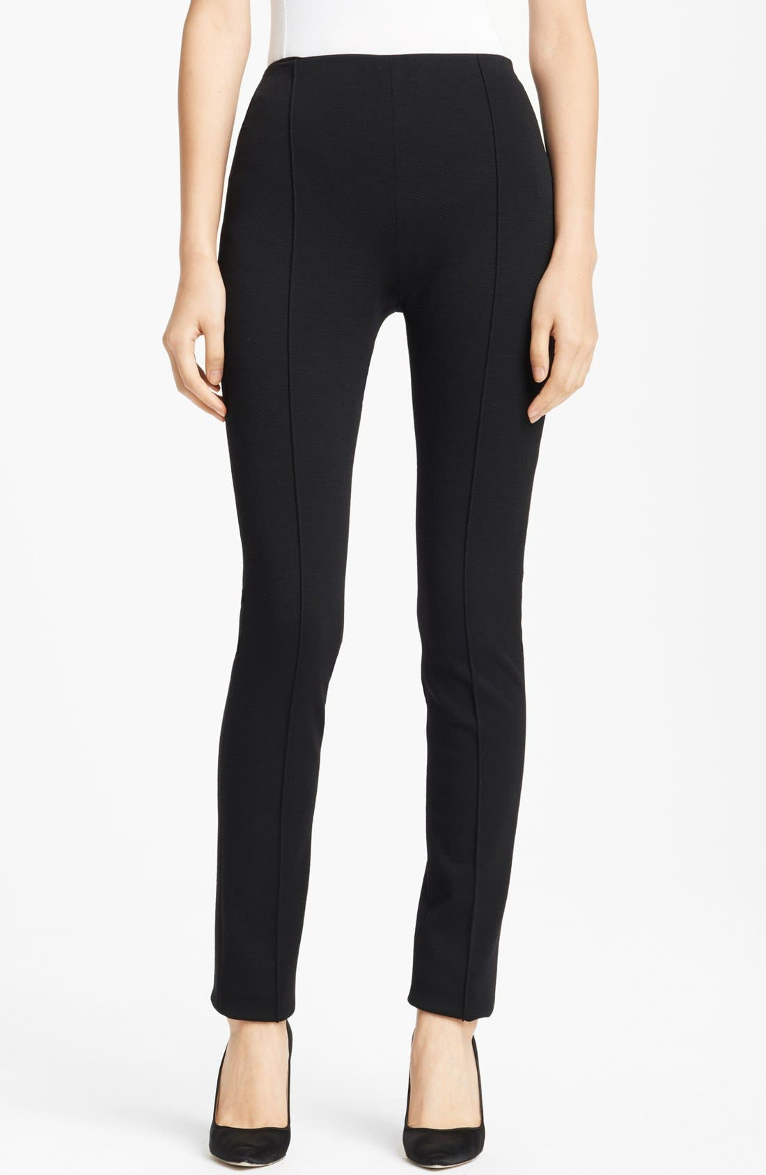Main Image - Oscar de la Renta Skinny Stretch Jersey Pants