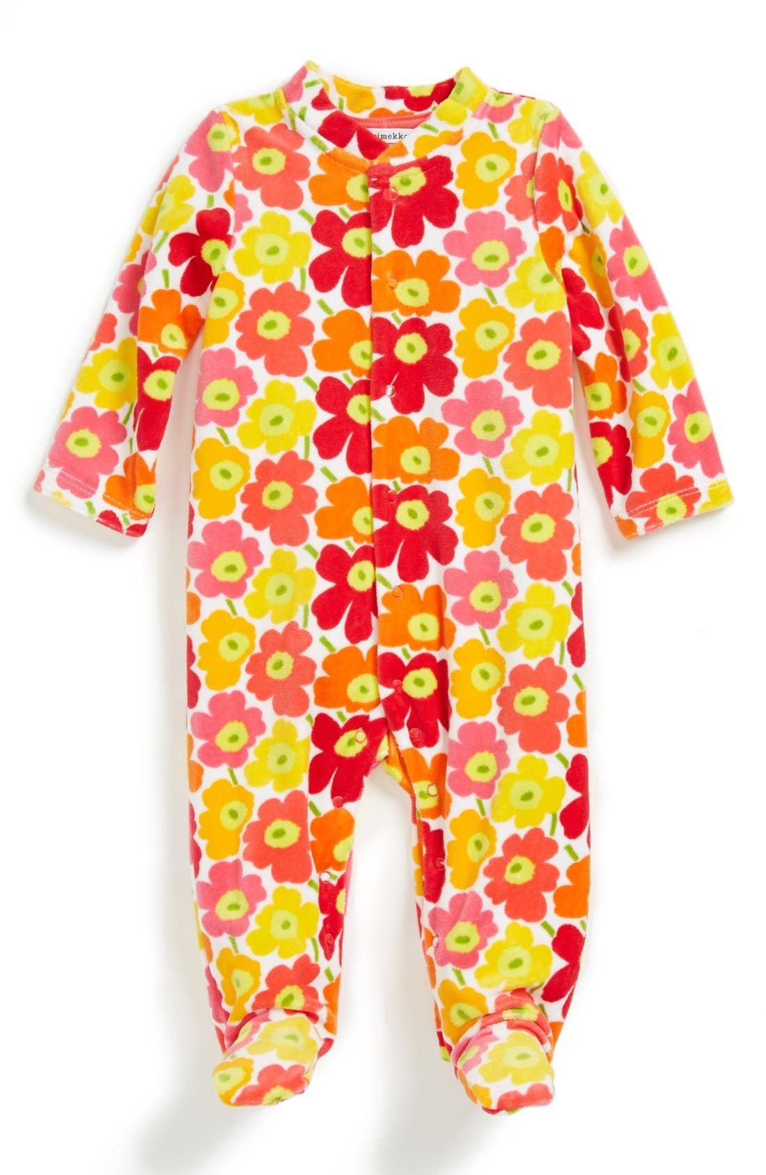 Main Image - Marimekko Floral One-Piece (Baby Girls)