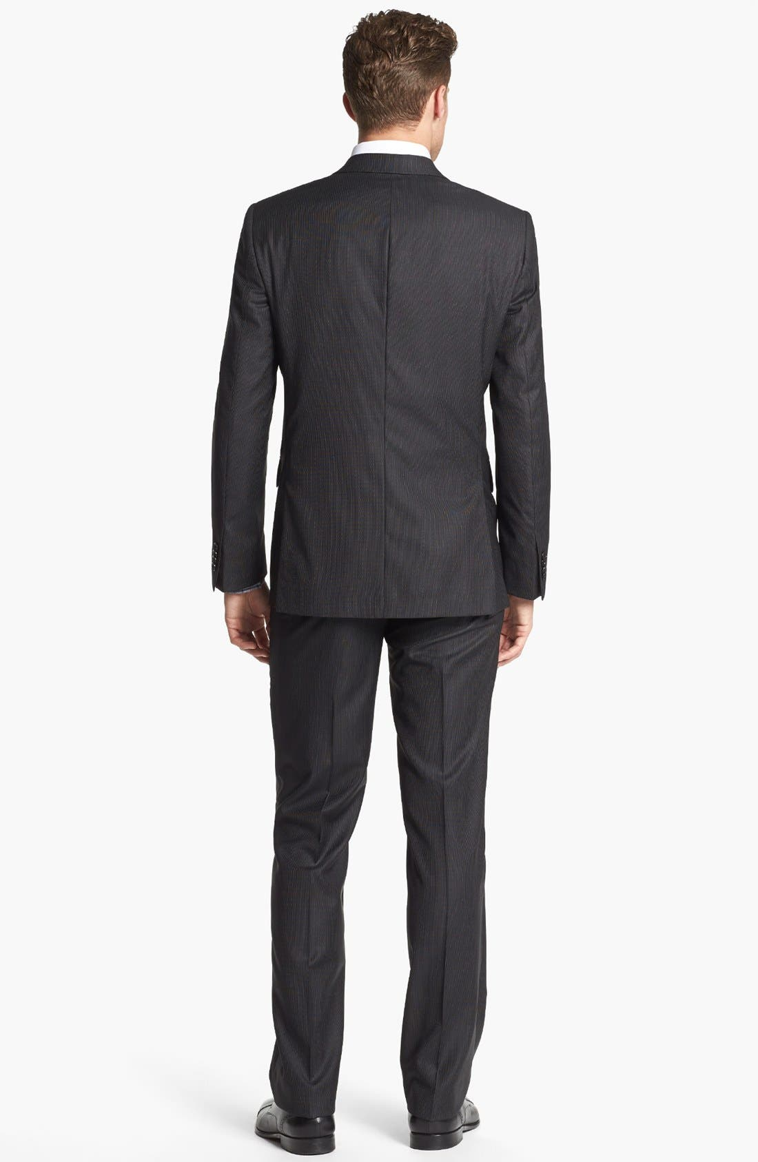 Alternate Image 2  - John Varvatos Star USA Trim Fit Three-Piece Wool Suit