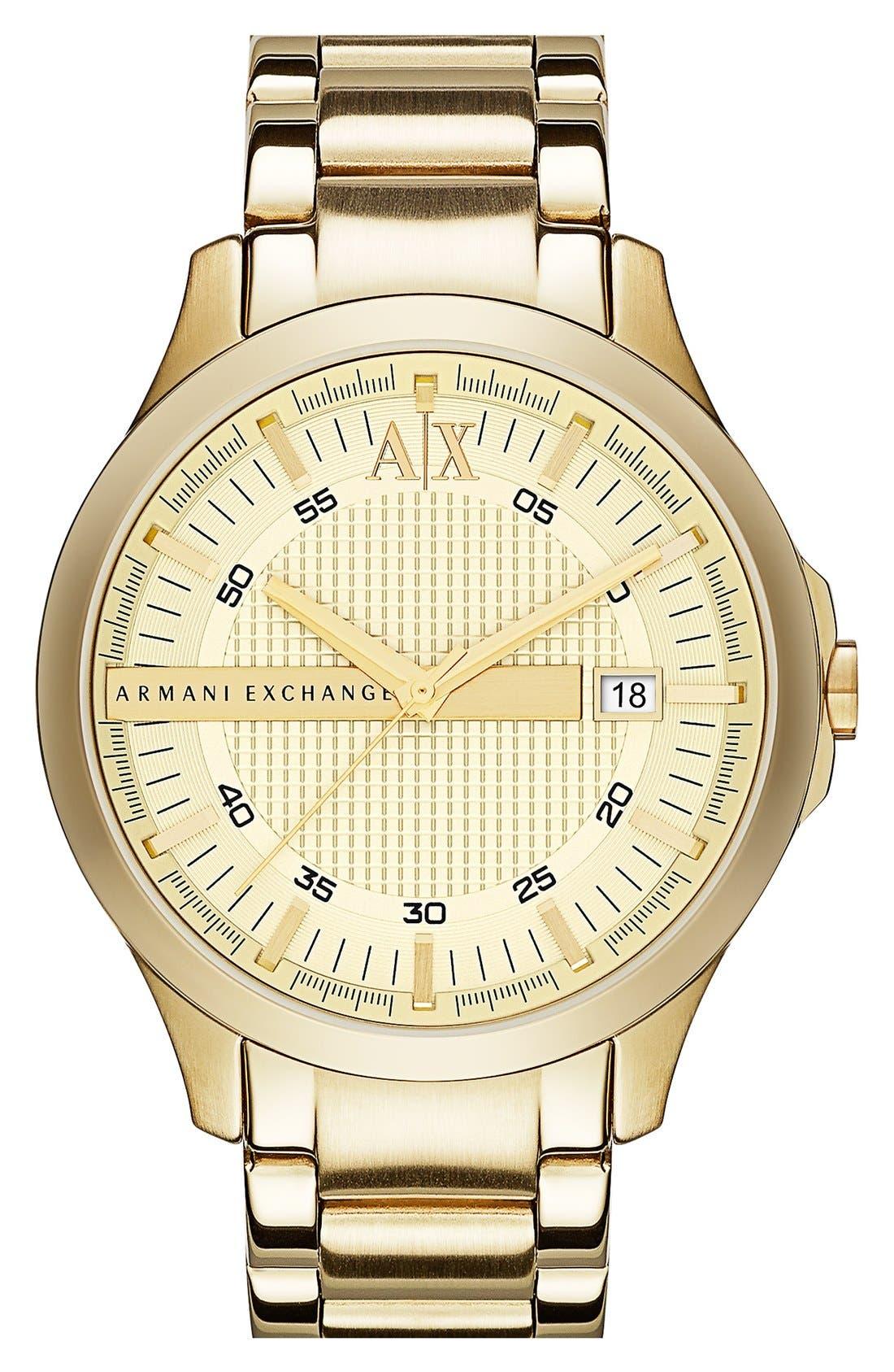 Main Image - AX Armani Exchange Bracelet Watch, 46mm