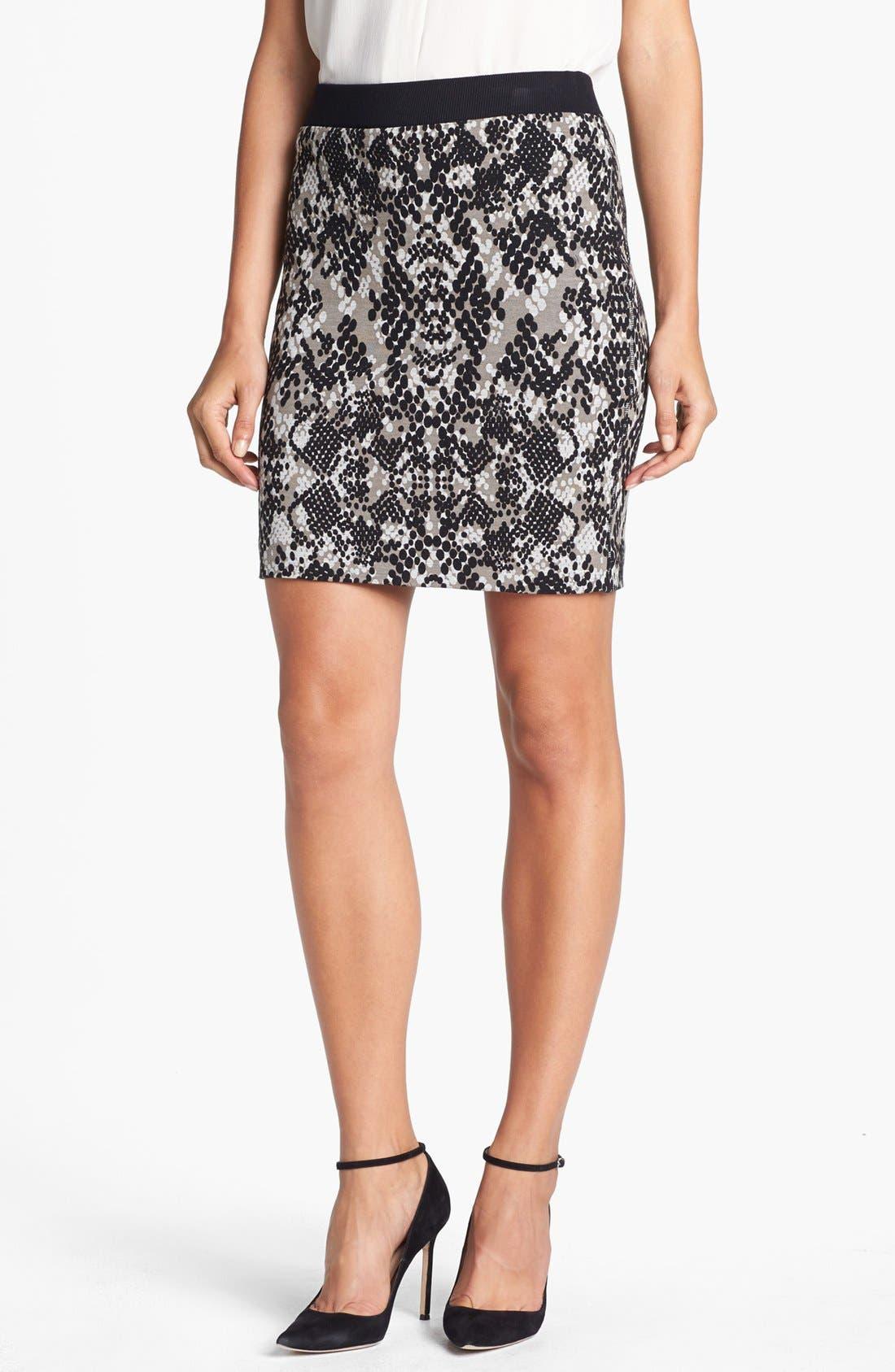 Alternate Image 1 Selected - Trina Turk 'Candra' Print Ponte Skirt